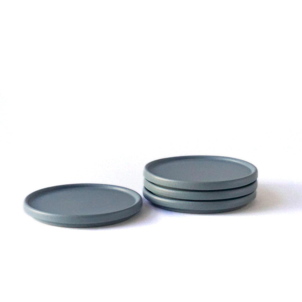 Indre Ceramics Fjord Blue Matt Teller/ Deckel Mini