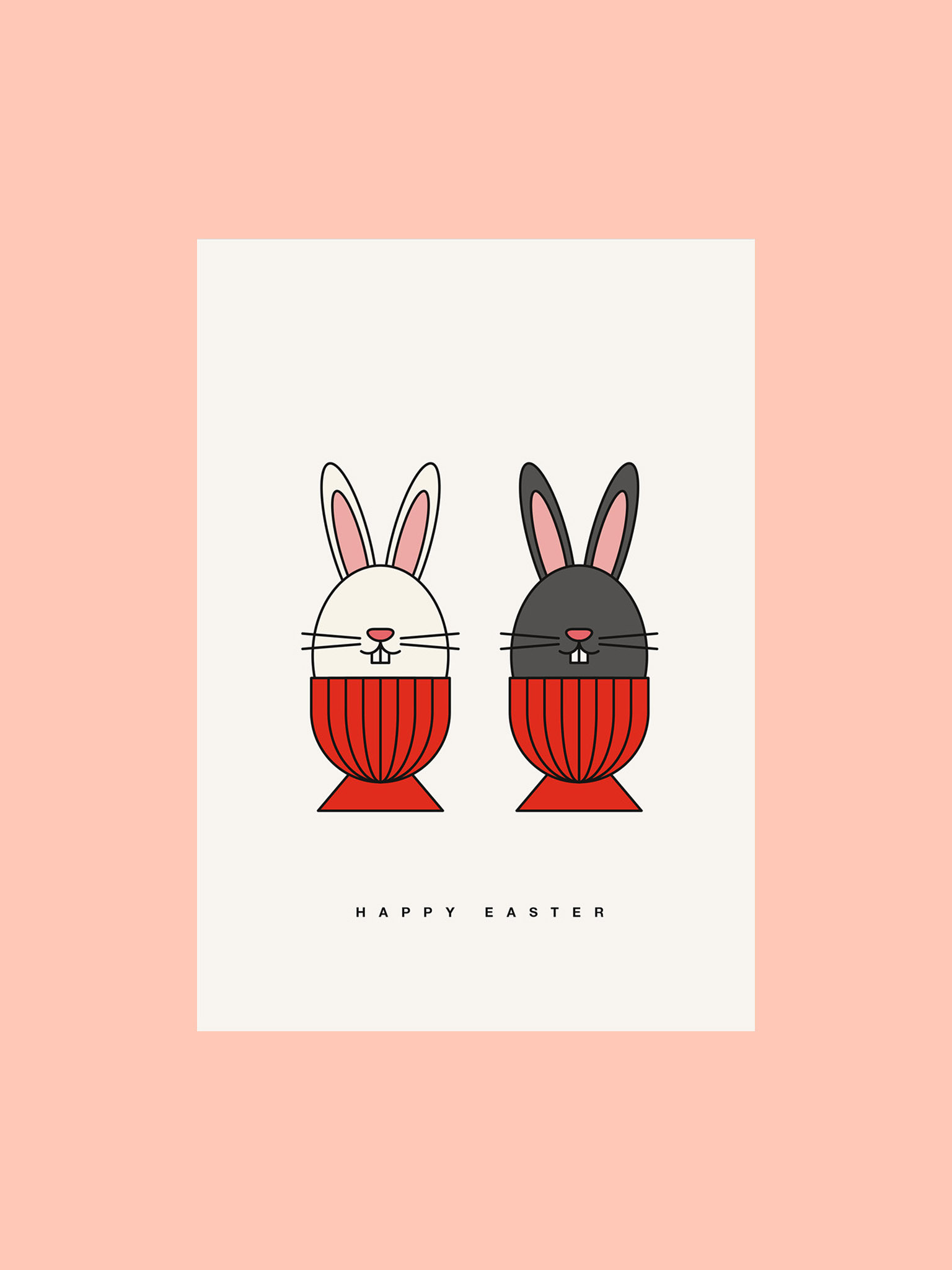 Postkarte Happy Easter