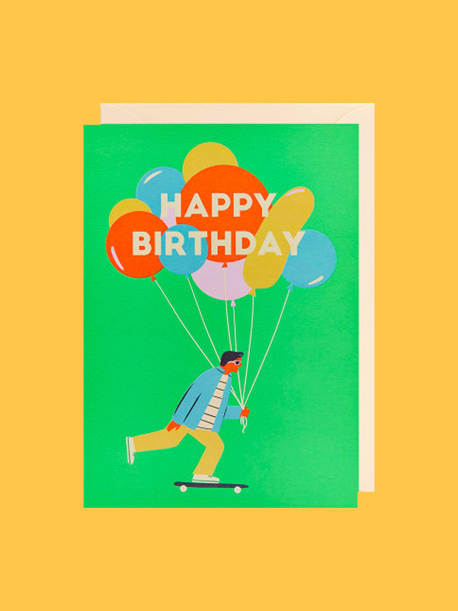 Klappkarte Happy Birthday Skater
