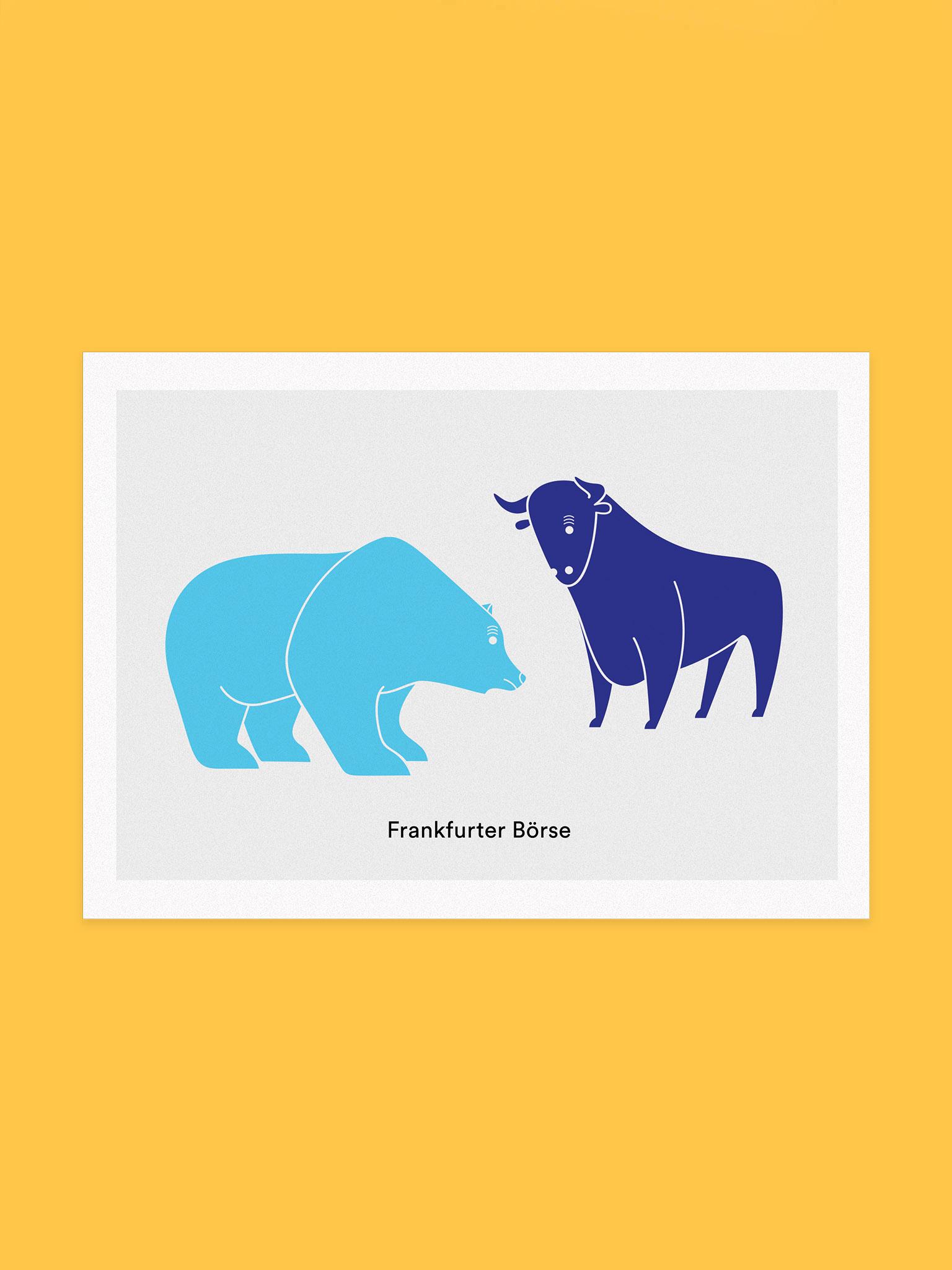 Postkarte Frankfurter Börse