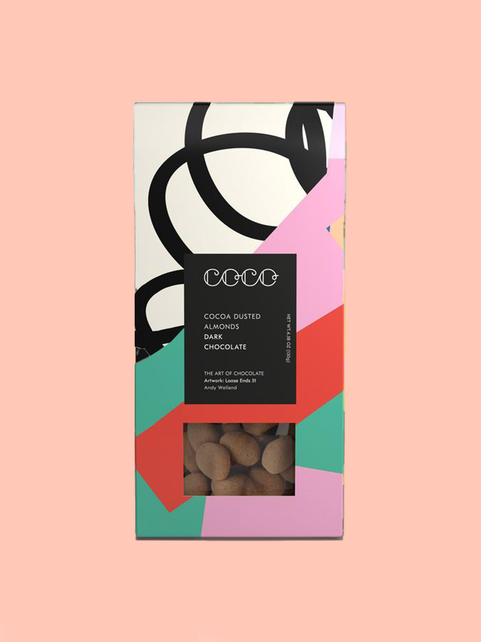 Coco Cocoa Dusted Almonds Dark Chocolate