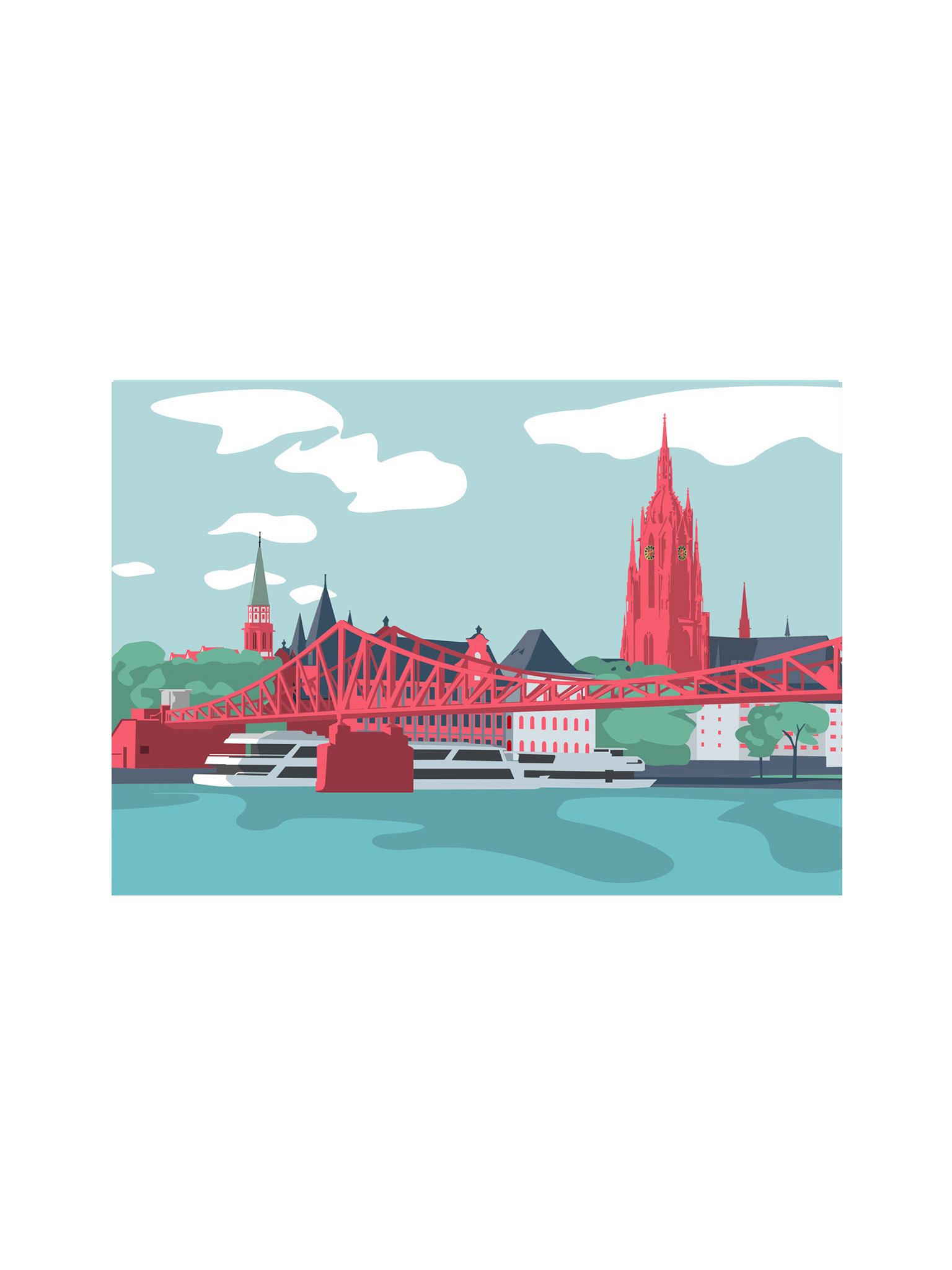 Postkarte Frankfurt Dom