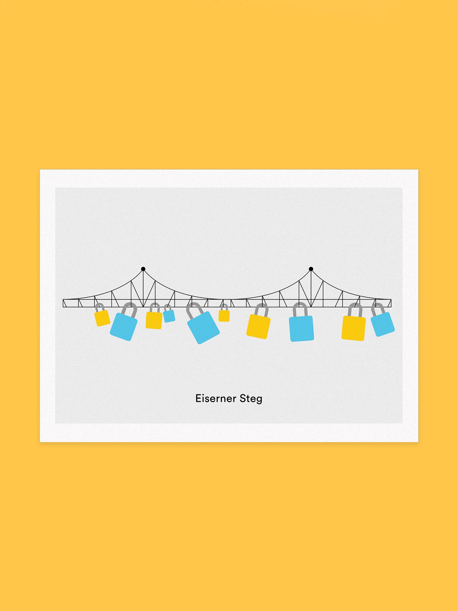 Postkarte Eiserner Steg