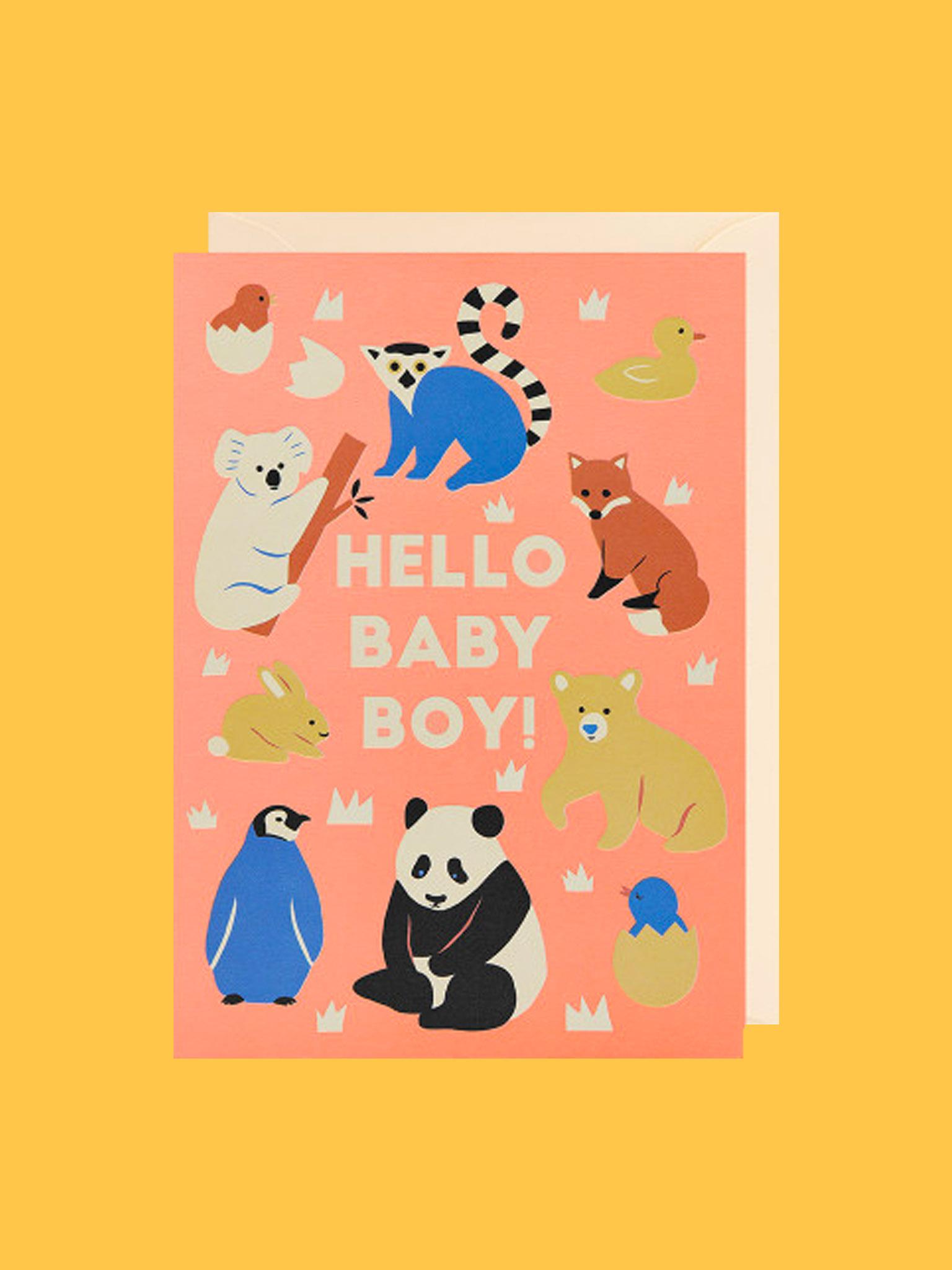 Klappkarte Hello Baby Boy