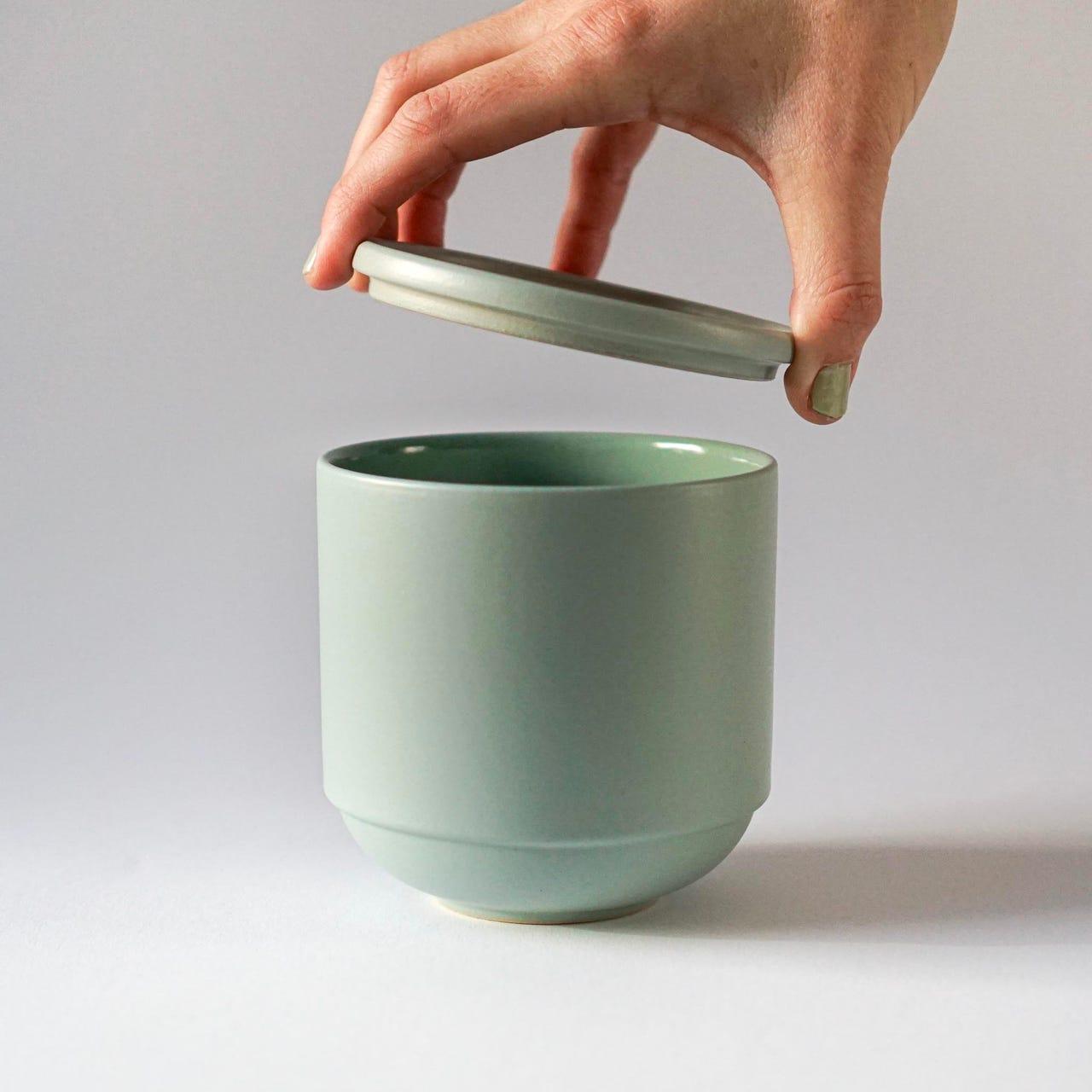 Indre Ceramics Mathilde Sage Green Schüssel Groß