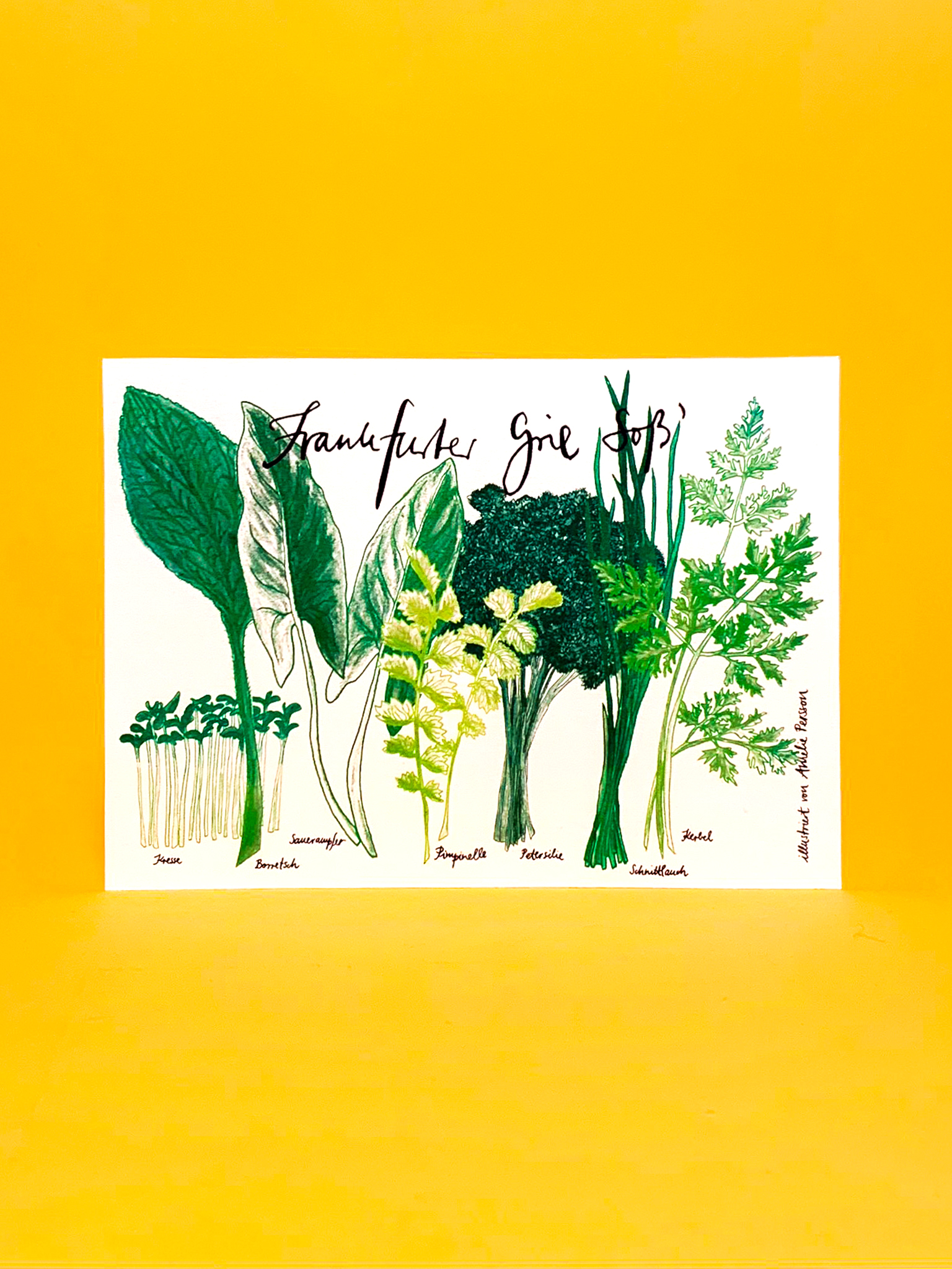 Postkarte Frankfurt Grüne Soße