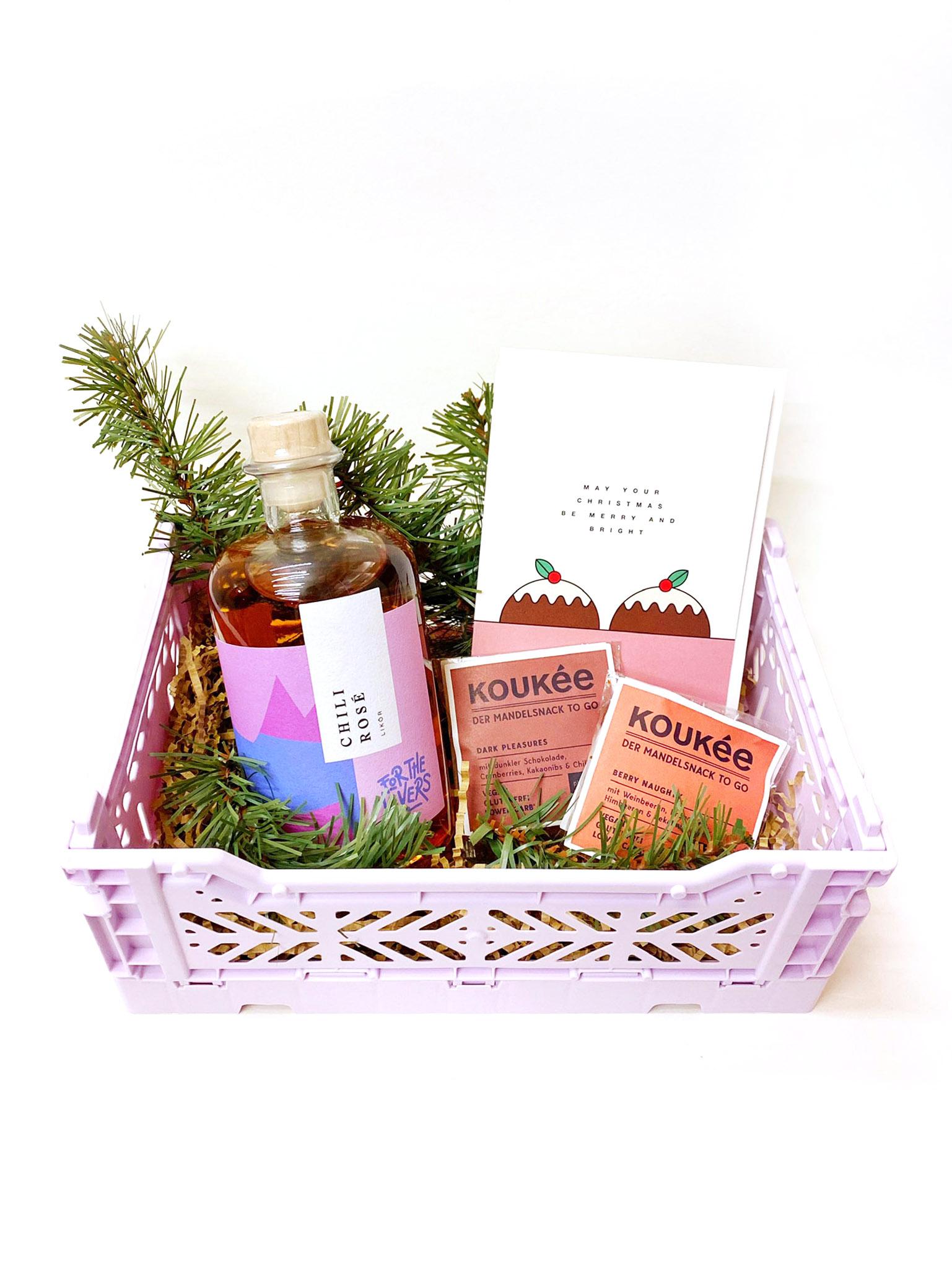 Geschenkbox Christmas Chili Rosé