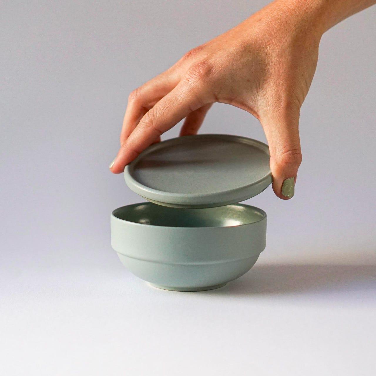 Indre Ceramics Mathilde Sage Green Schale Mini
