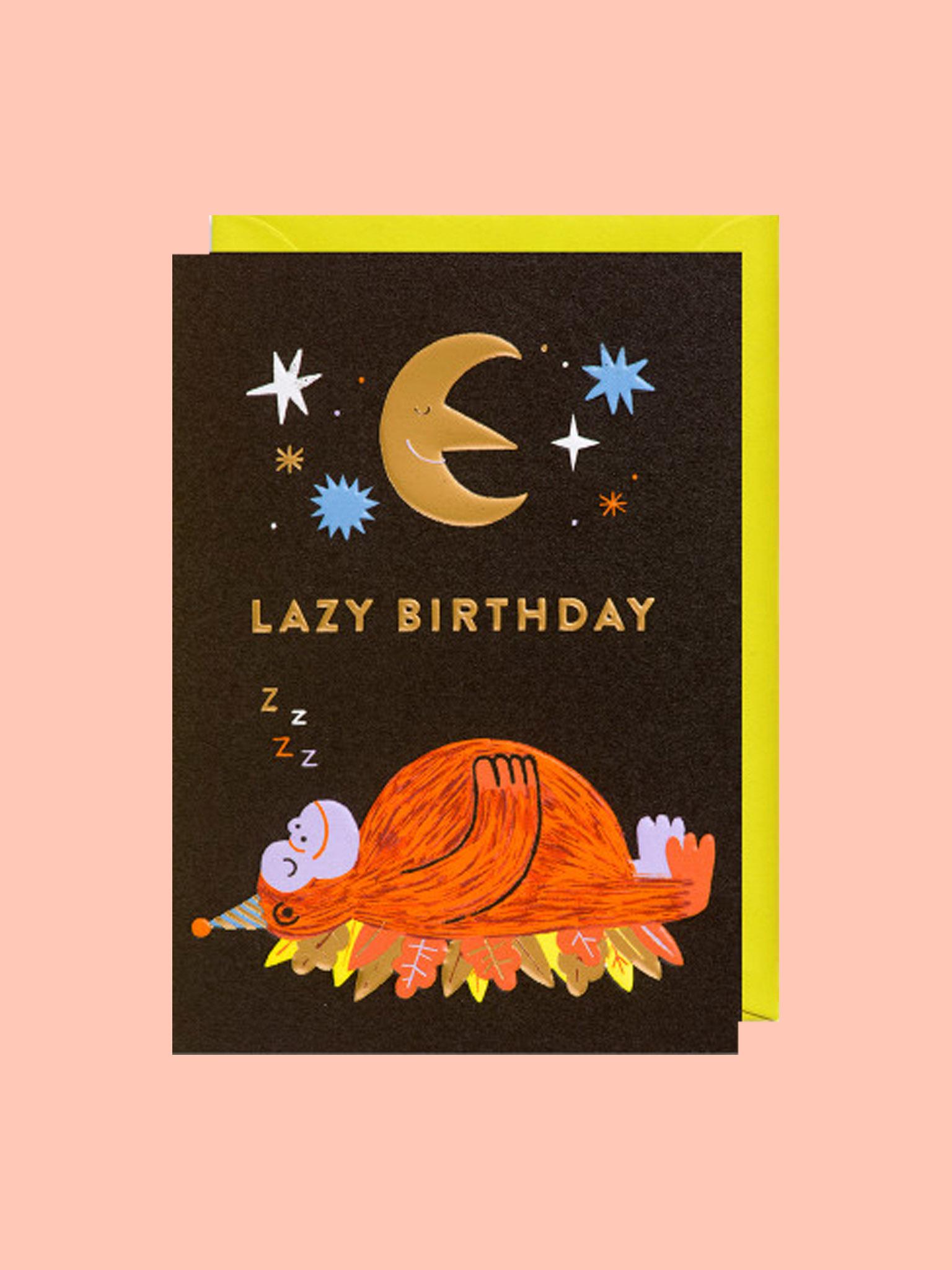 Klappkarte Lazy Birthday