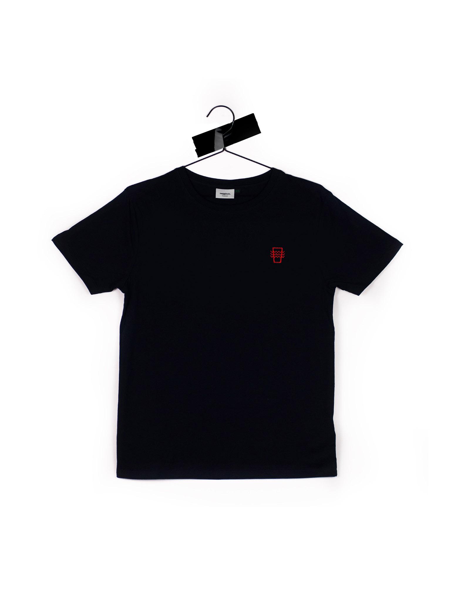 Naggisch T-Shirt Geripptes Schwarz