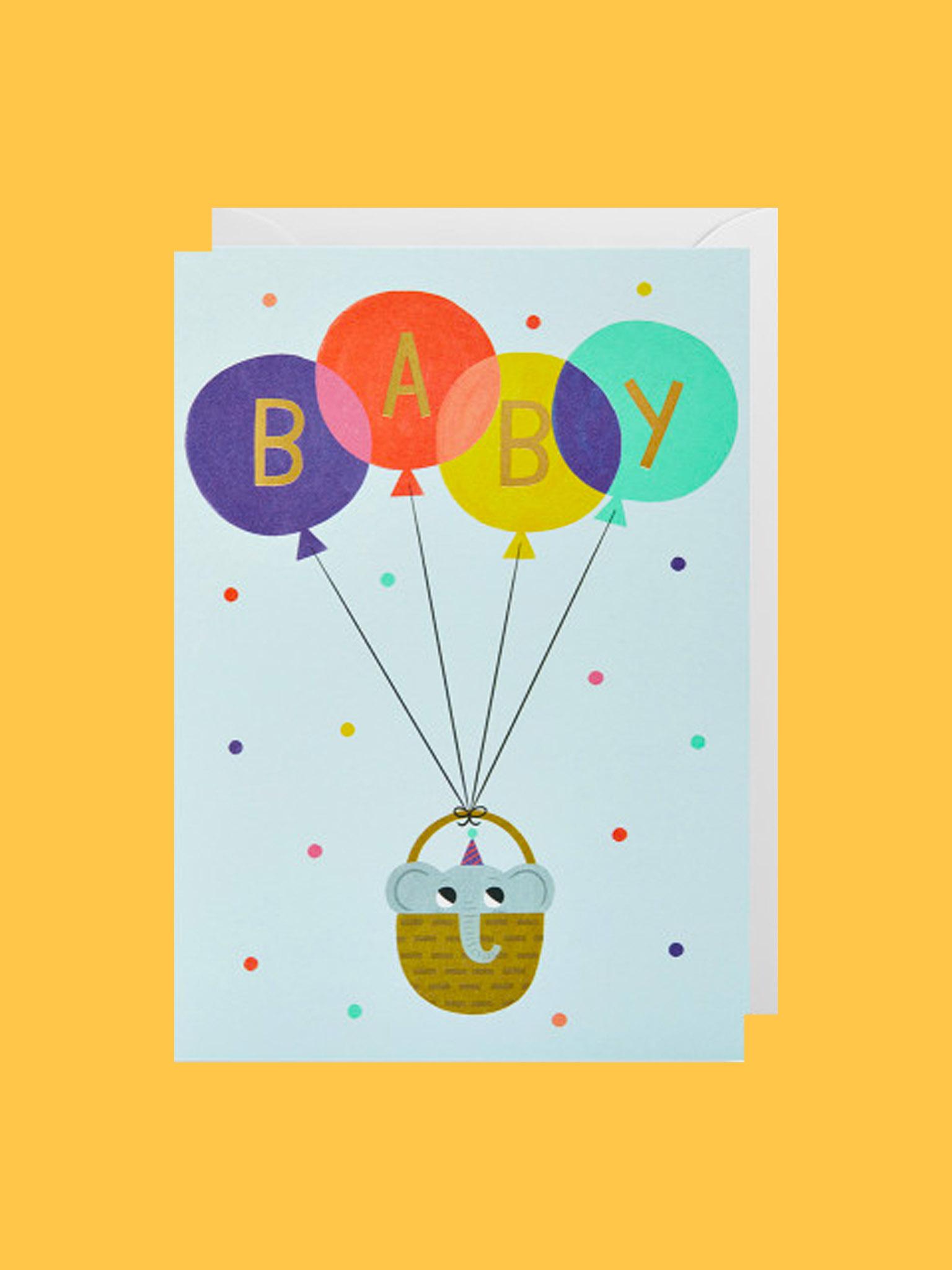 Klappkarte Baby Balloon