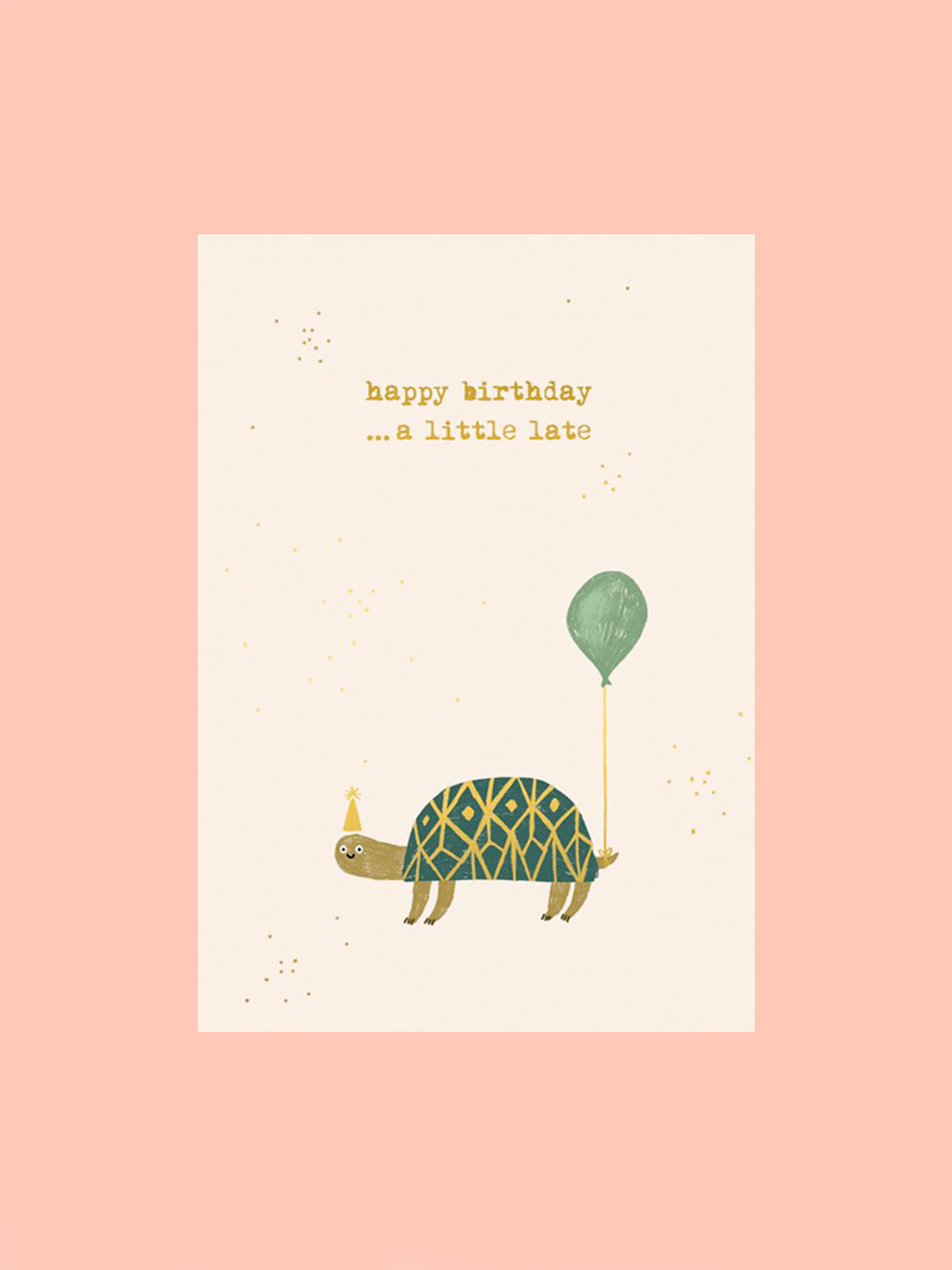 Postkarte Happy Birthday Schildkröte