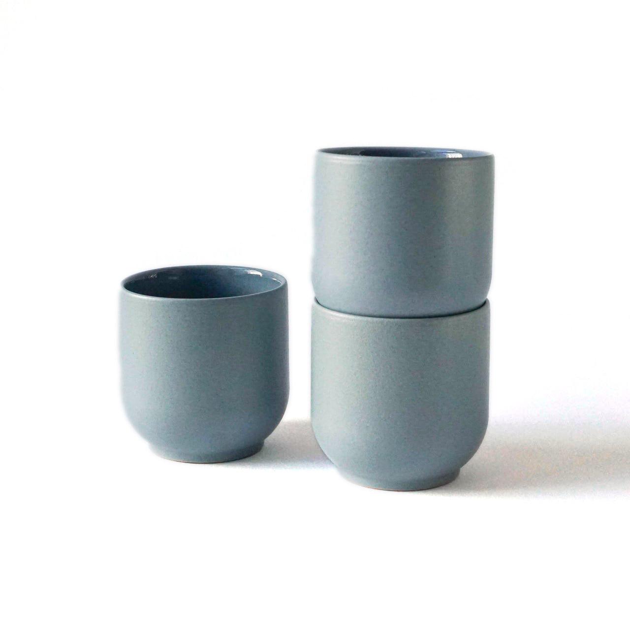 Indre Ceramics Fjord Blue Matt Becher