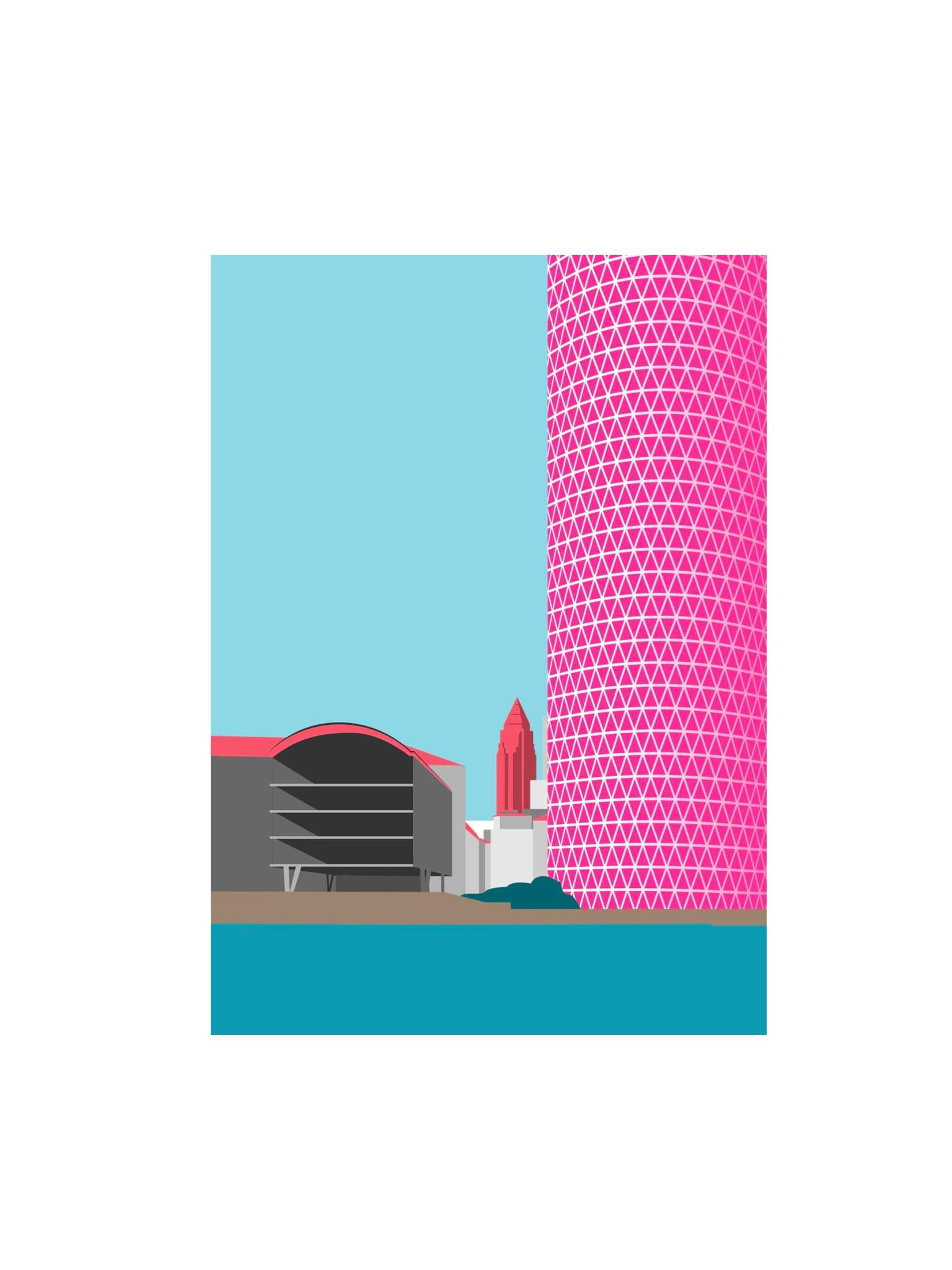 Postkarte Frankfurt Geripptes
