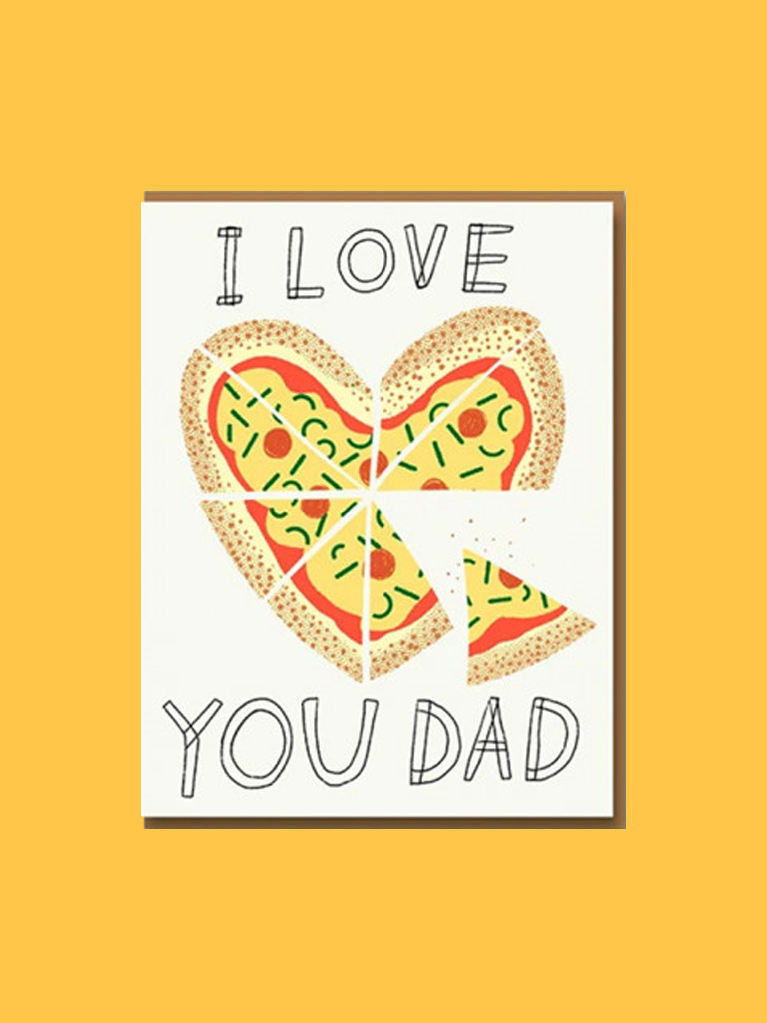 Klappkarte I Love You Dad Pizza