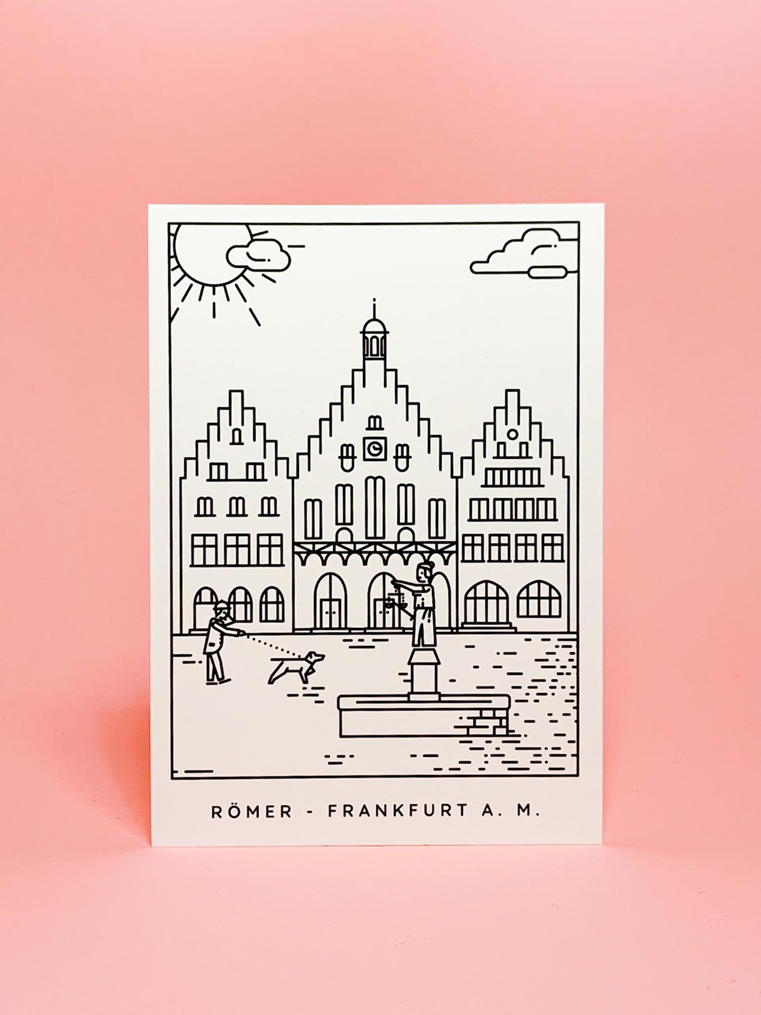 Postkarte Frankfurt Römer