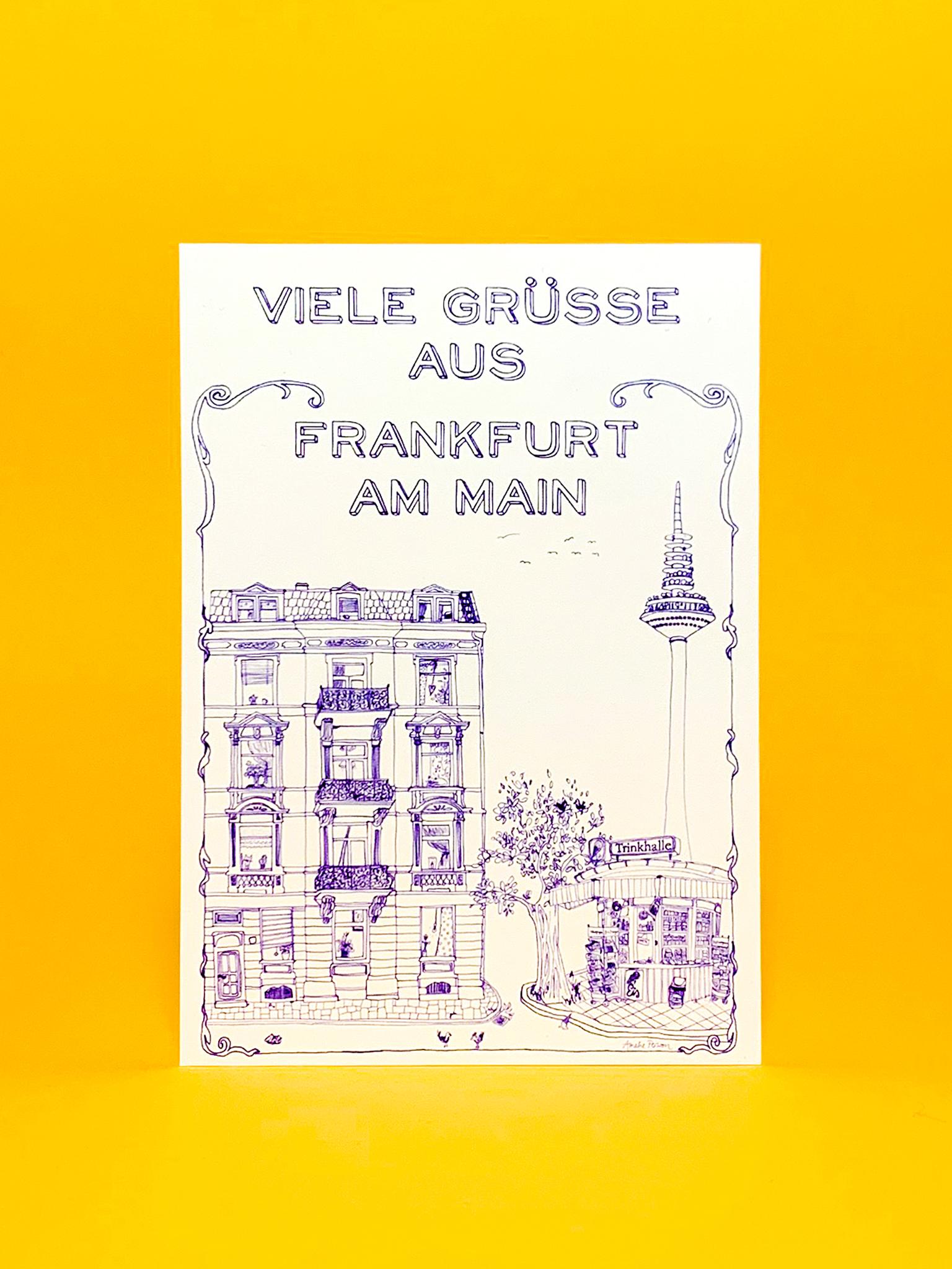 Postkarte Frankfurt Grüße Aus Frankfurt