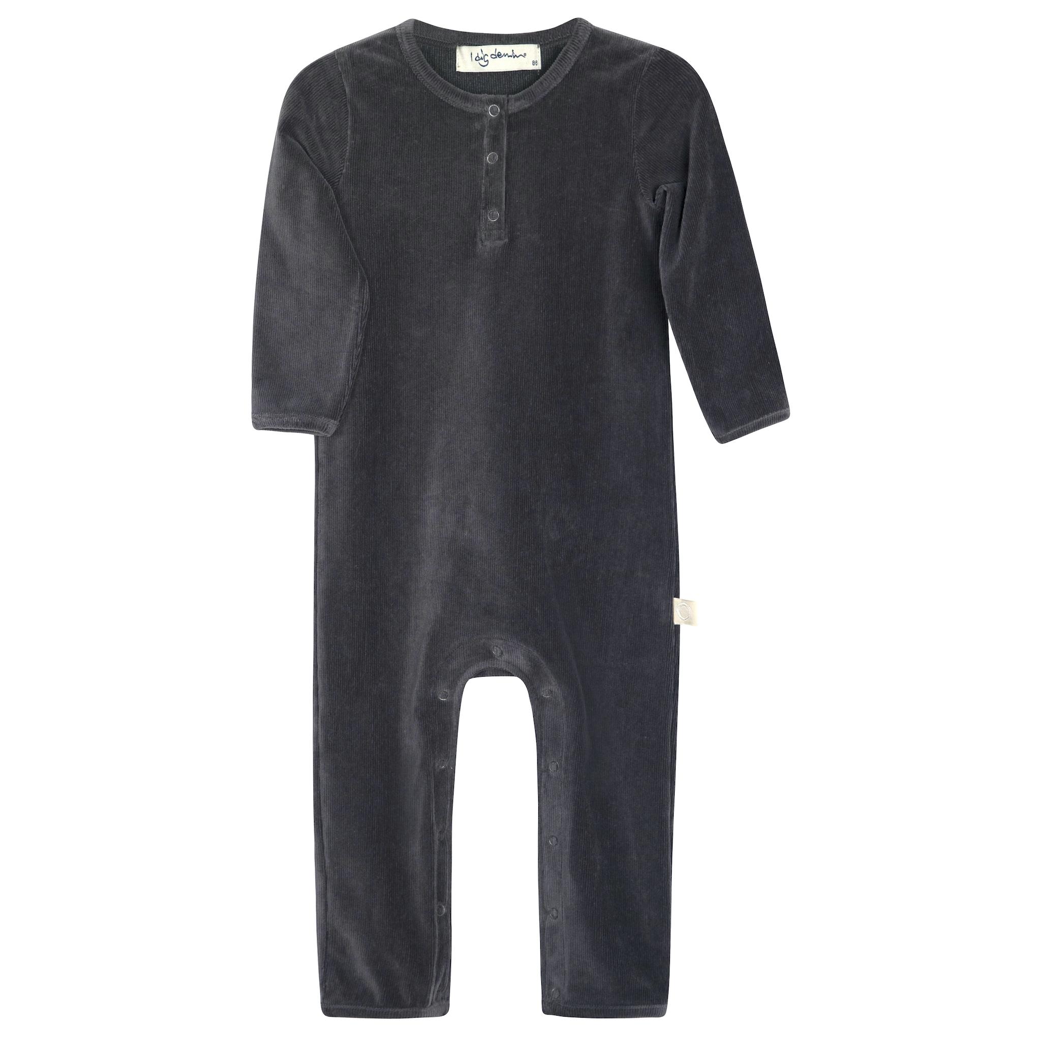 I dig denim - Mora Velour Jumpsuit - dark grey