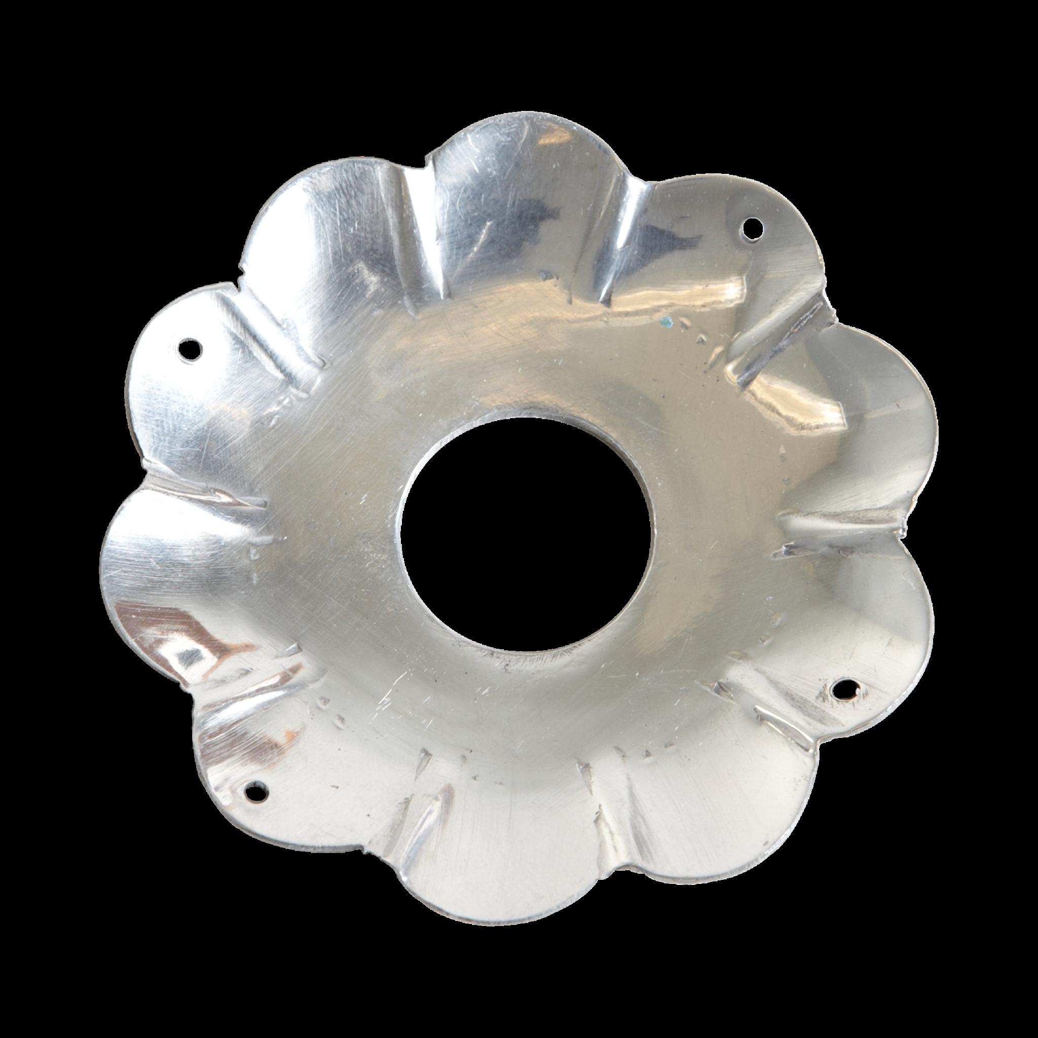 Ljusmanschett L - silver