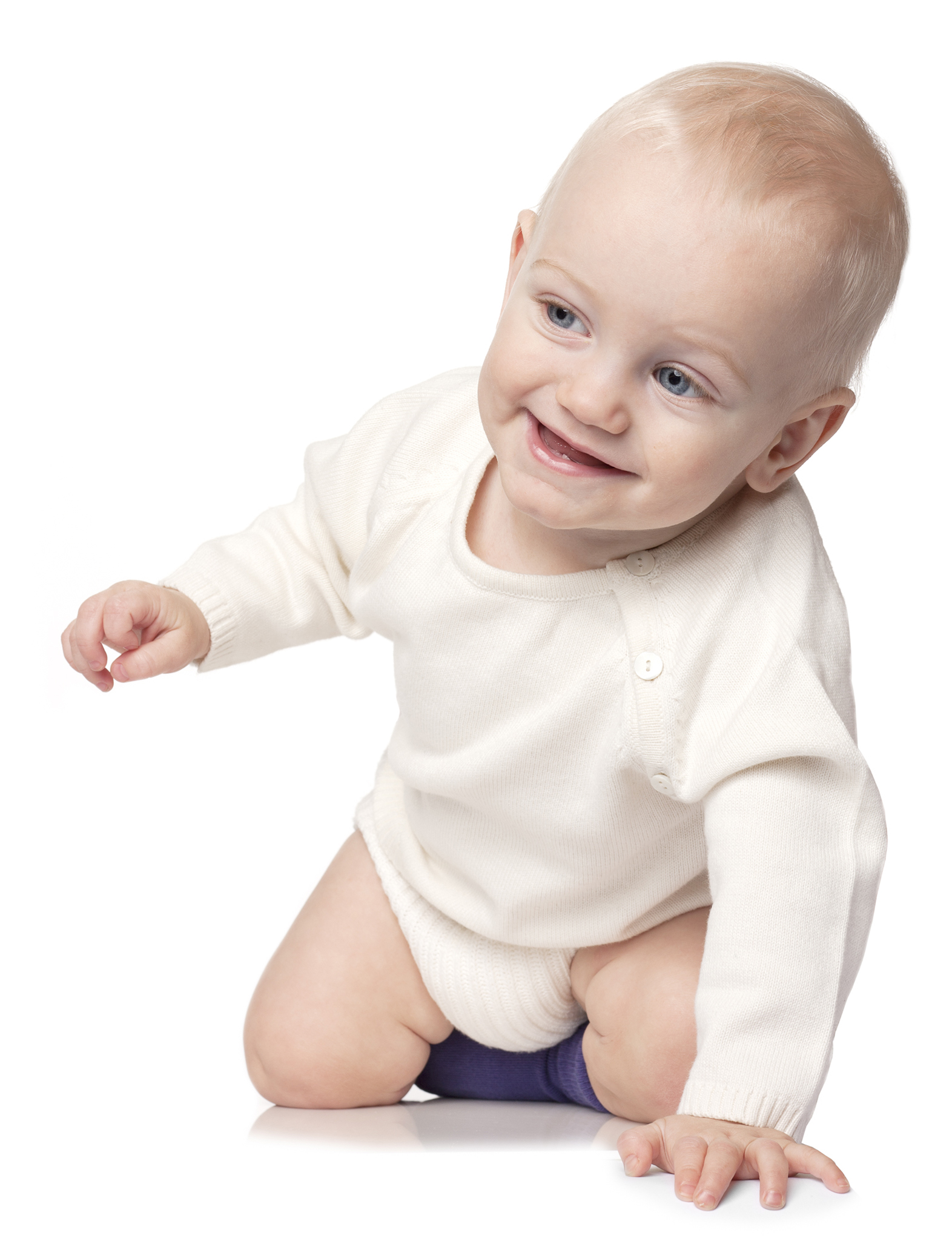 Baby Knitted Bloomers - ivory