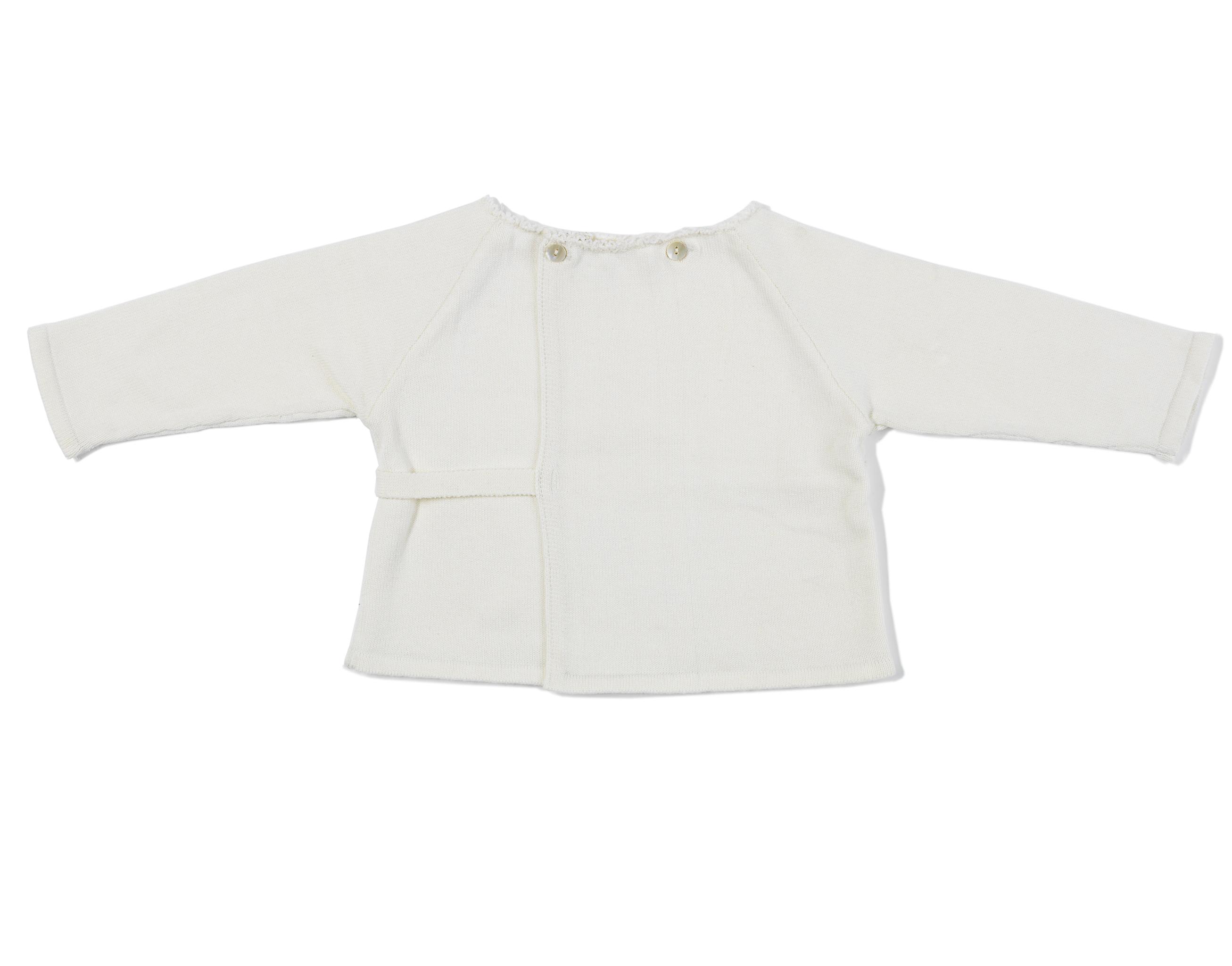 Baby Wrap Sweater - ivory