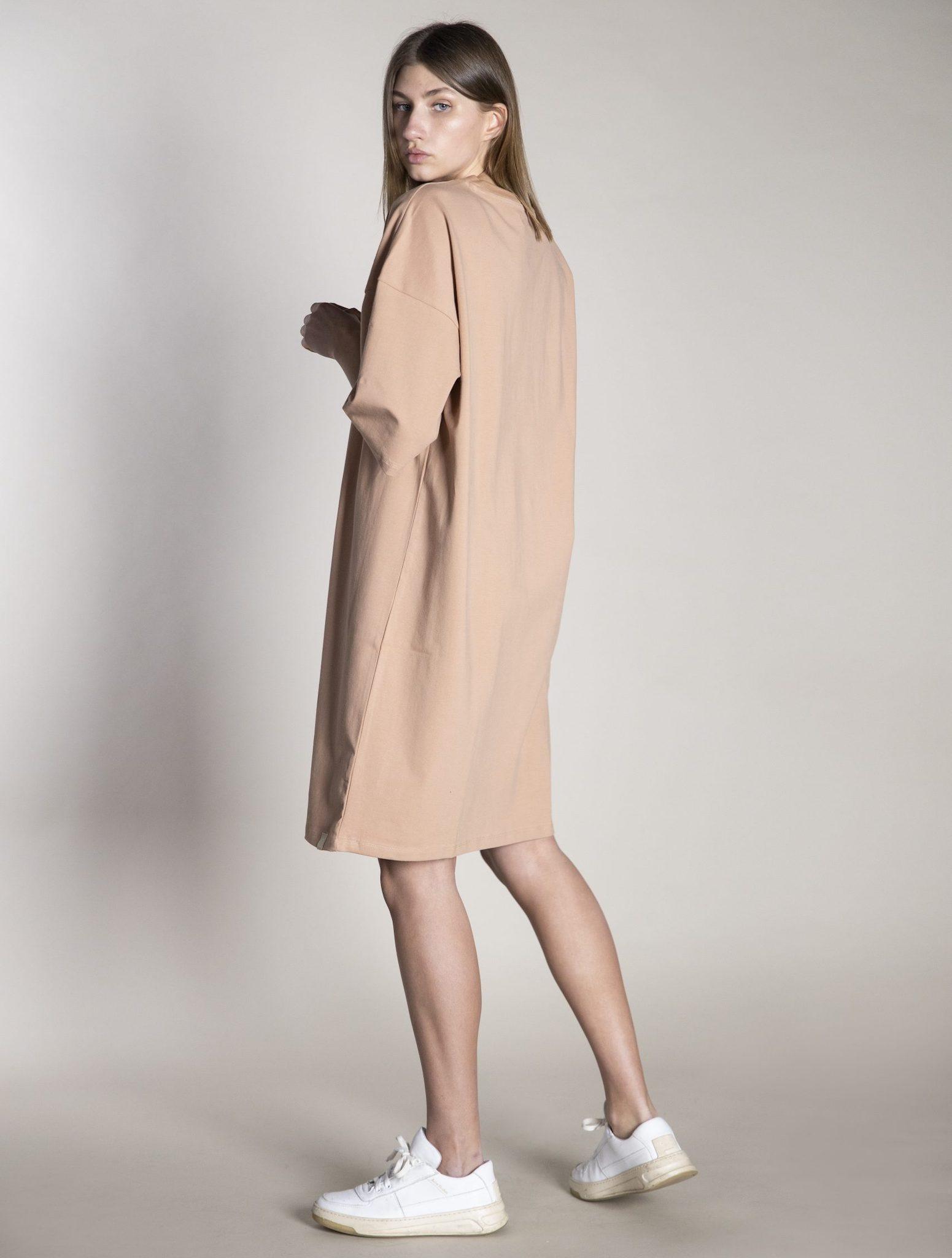 I dig denim - Ricky Oversized Dress Organic - pink sand