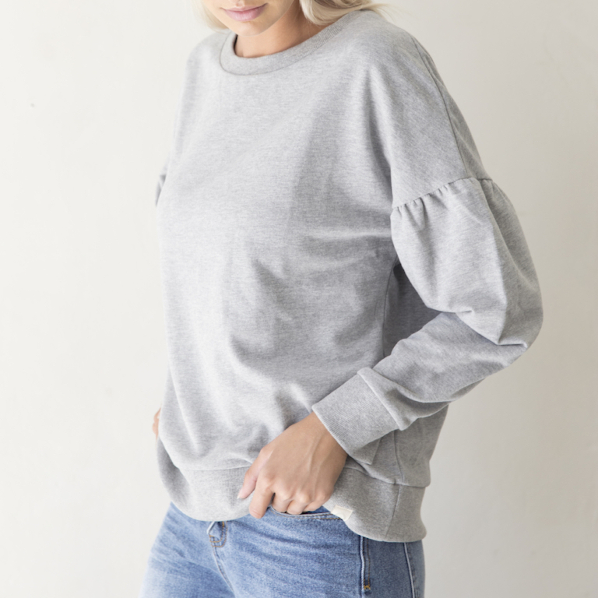 I dig denim - Wilder Sweater Organic - grey melange