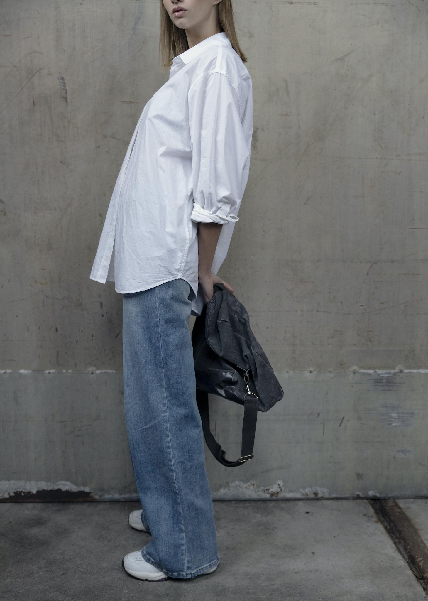 I dig denim - Nanna Poplin Shirt - white