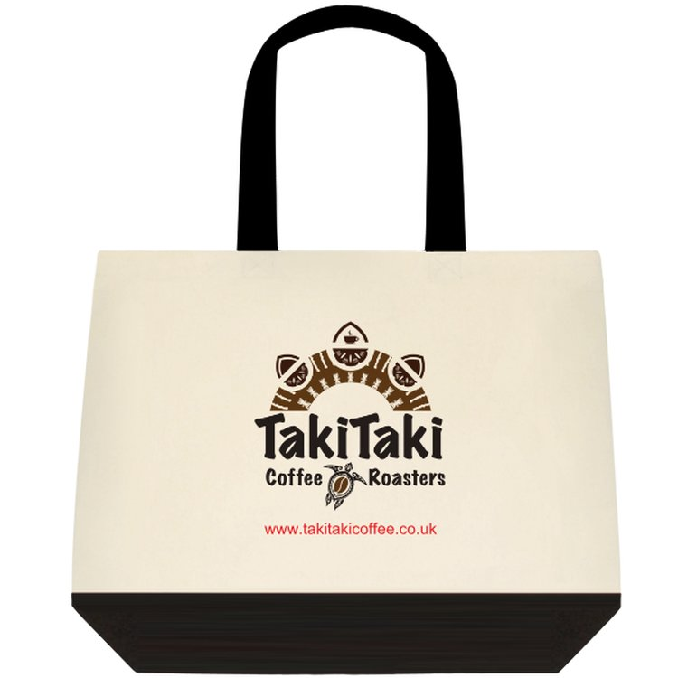 Takitaki Two-Tone Deluxe Classic Cotton Tote Bags