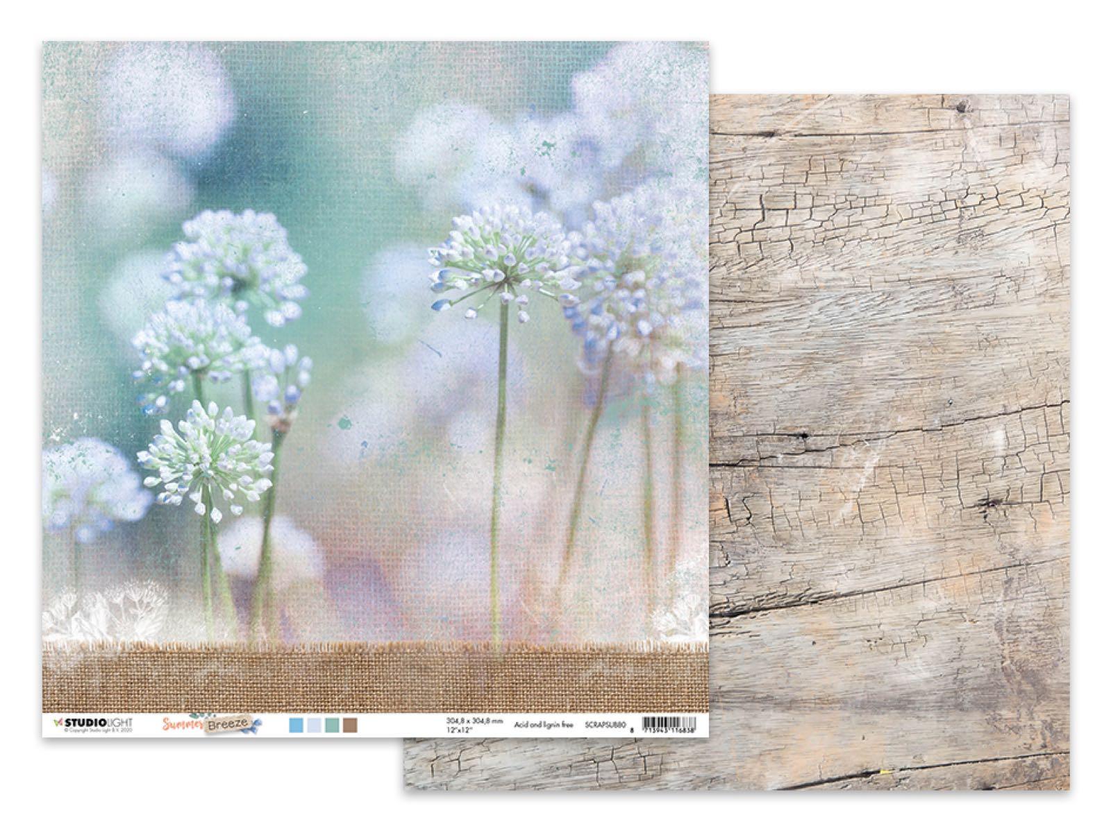 Studiolight, Summer breeze, 12x12 mønsterark tosidig.