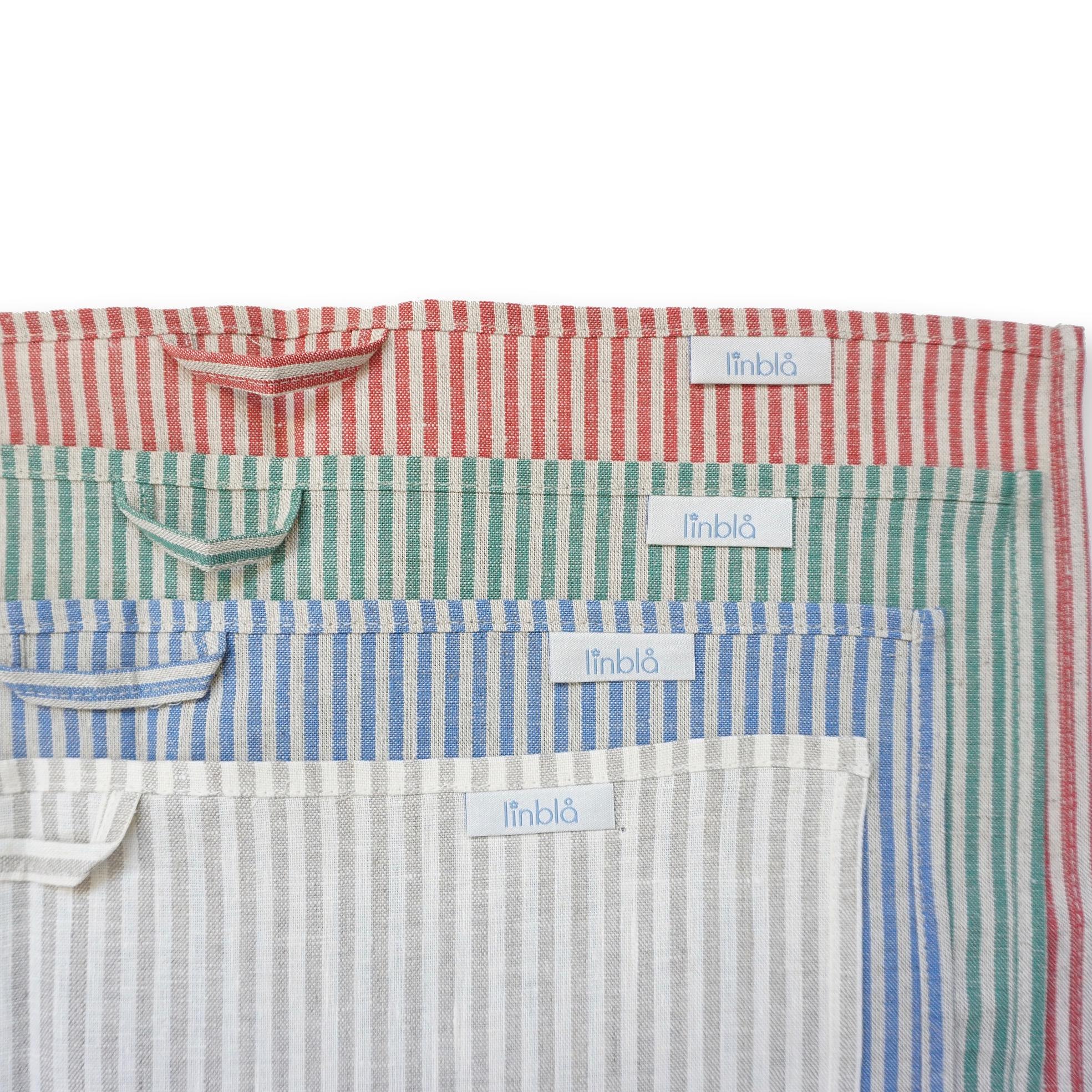 Kjøkkenhåndkle Linblå