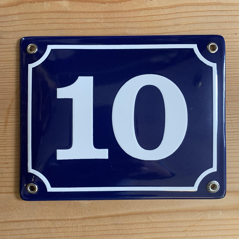 Emaljeskilt nr 10