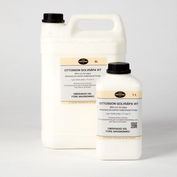 Linoljesåpe med hvitpigment, for gulv
