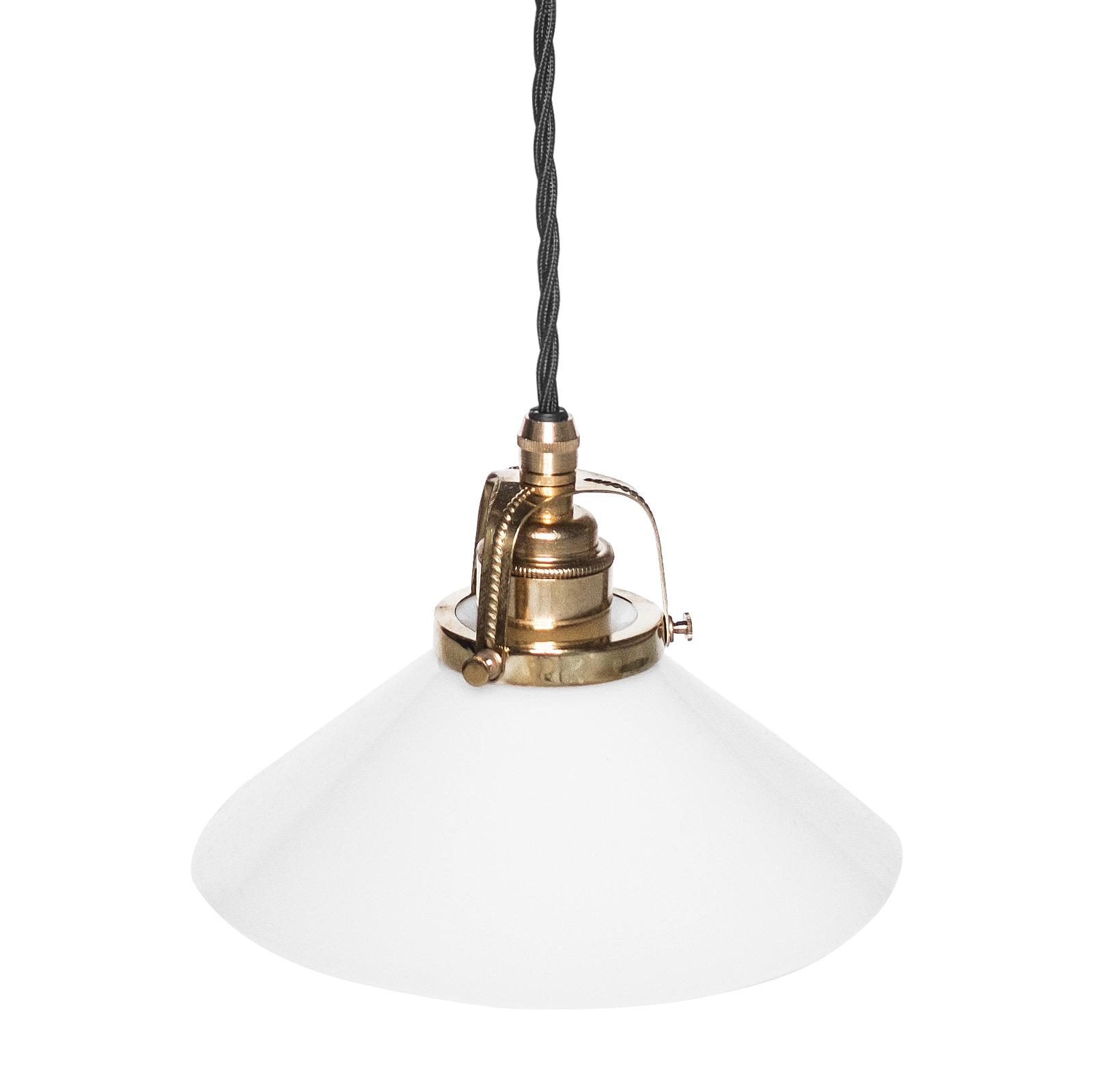 Skomakerlampe hvit 25 cm, sort kabel