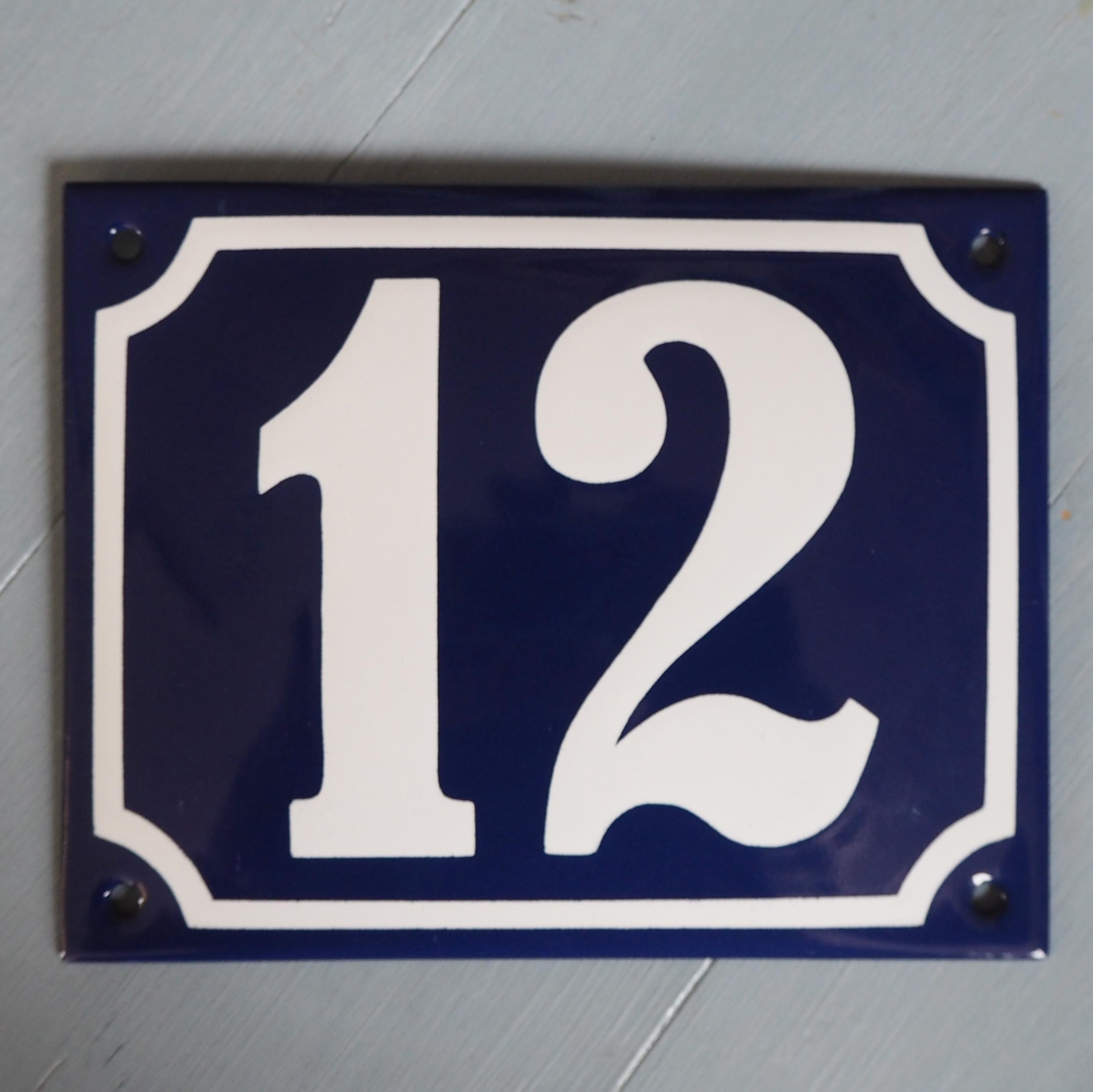 Emaljeskilt nr 12