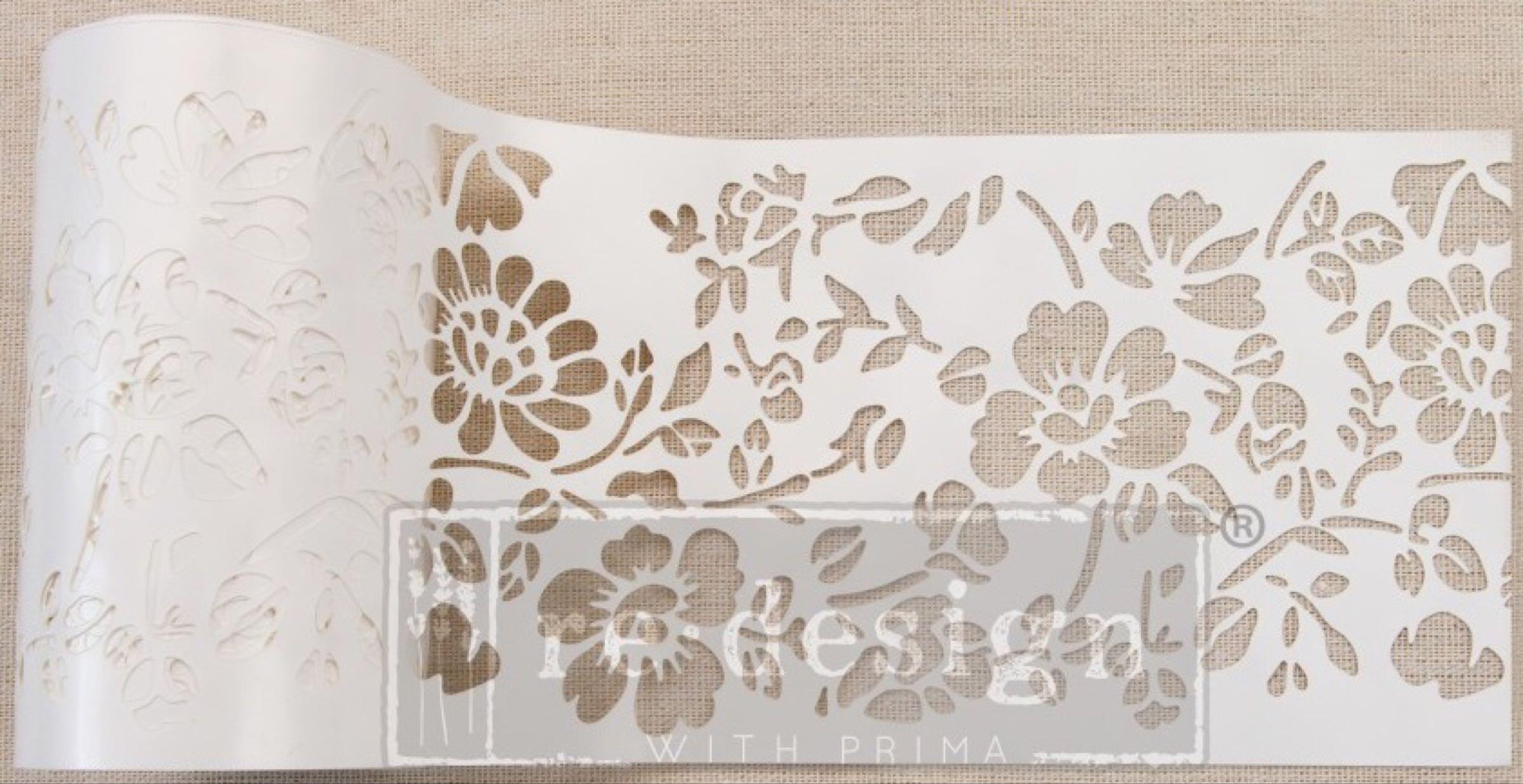 Re-design with Prima Stencil Roll - Cornelle Garden