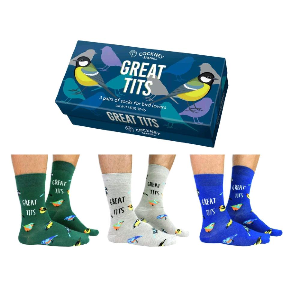 Great Tits Socks Gift Set