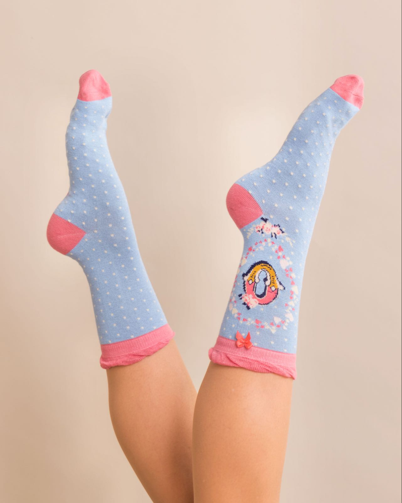 Powder Alphabet socks O (product may differ from item shown in the photo)