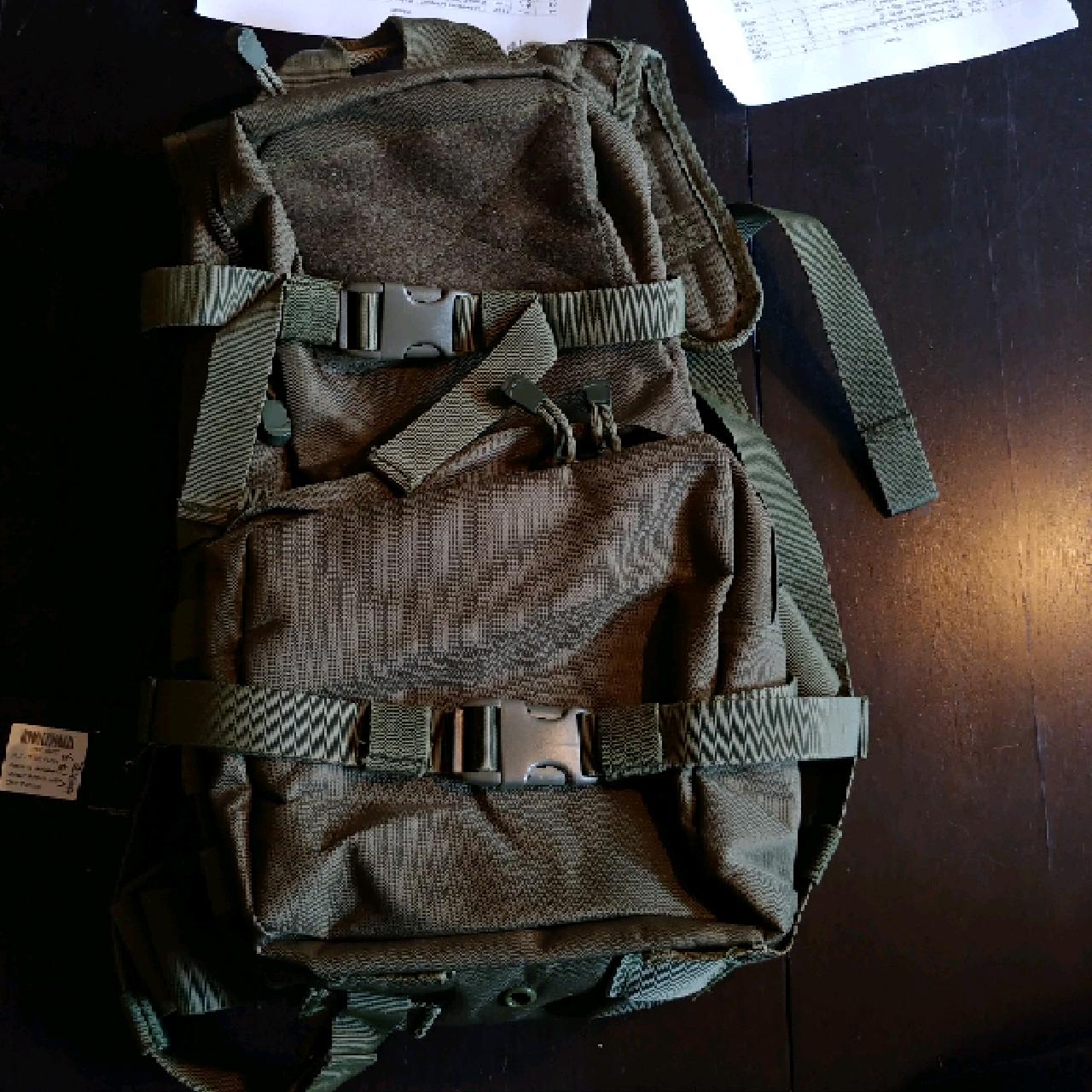 GFC vätskeryggsäck med extra ficka OD inkl. vattenblåsa