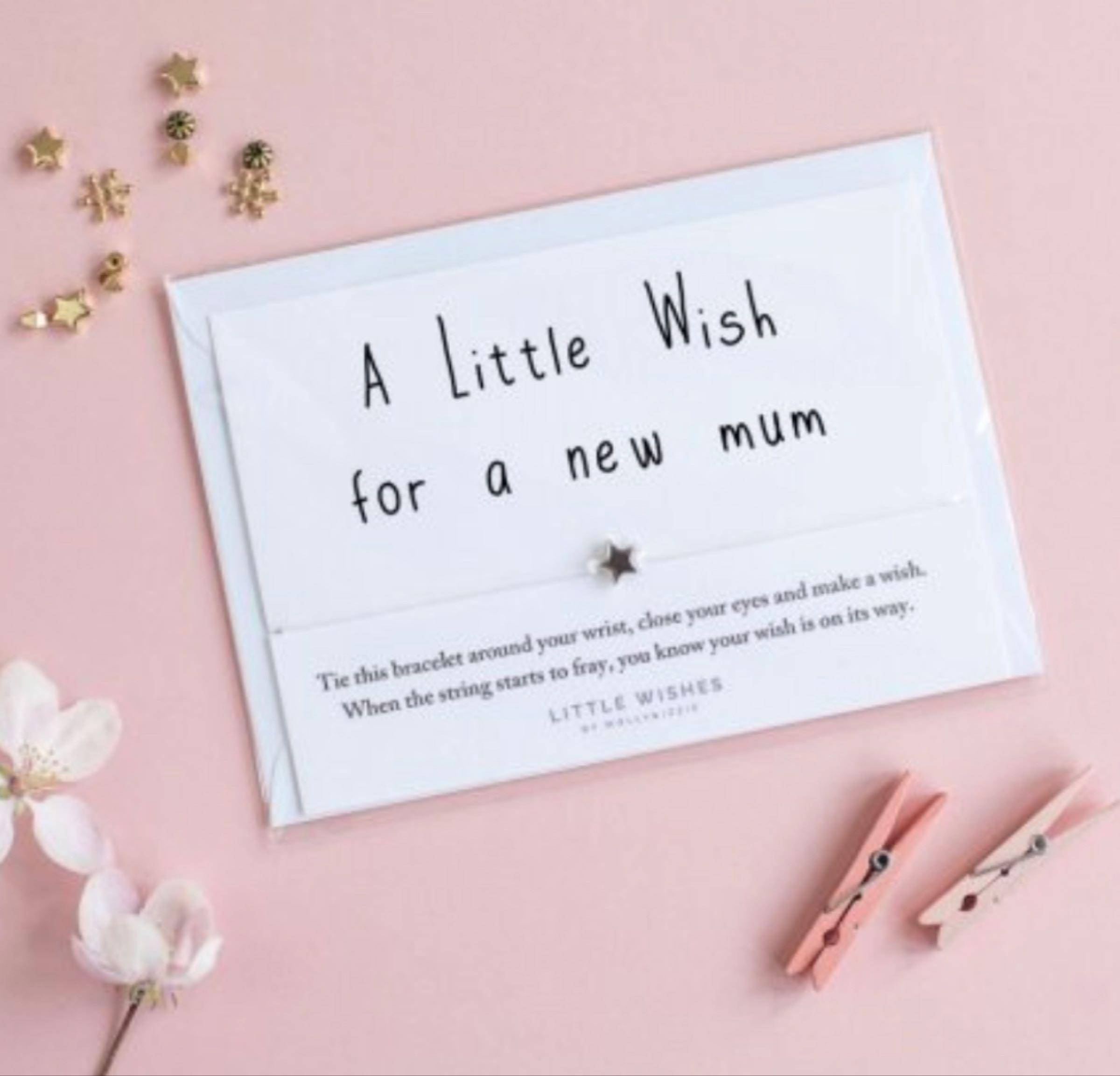 Little wish for new mum wish bracelet