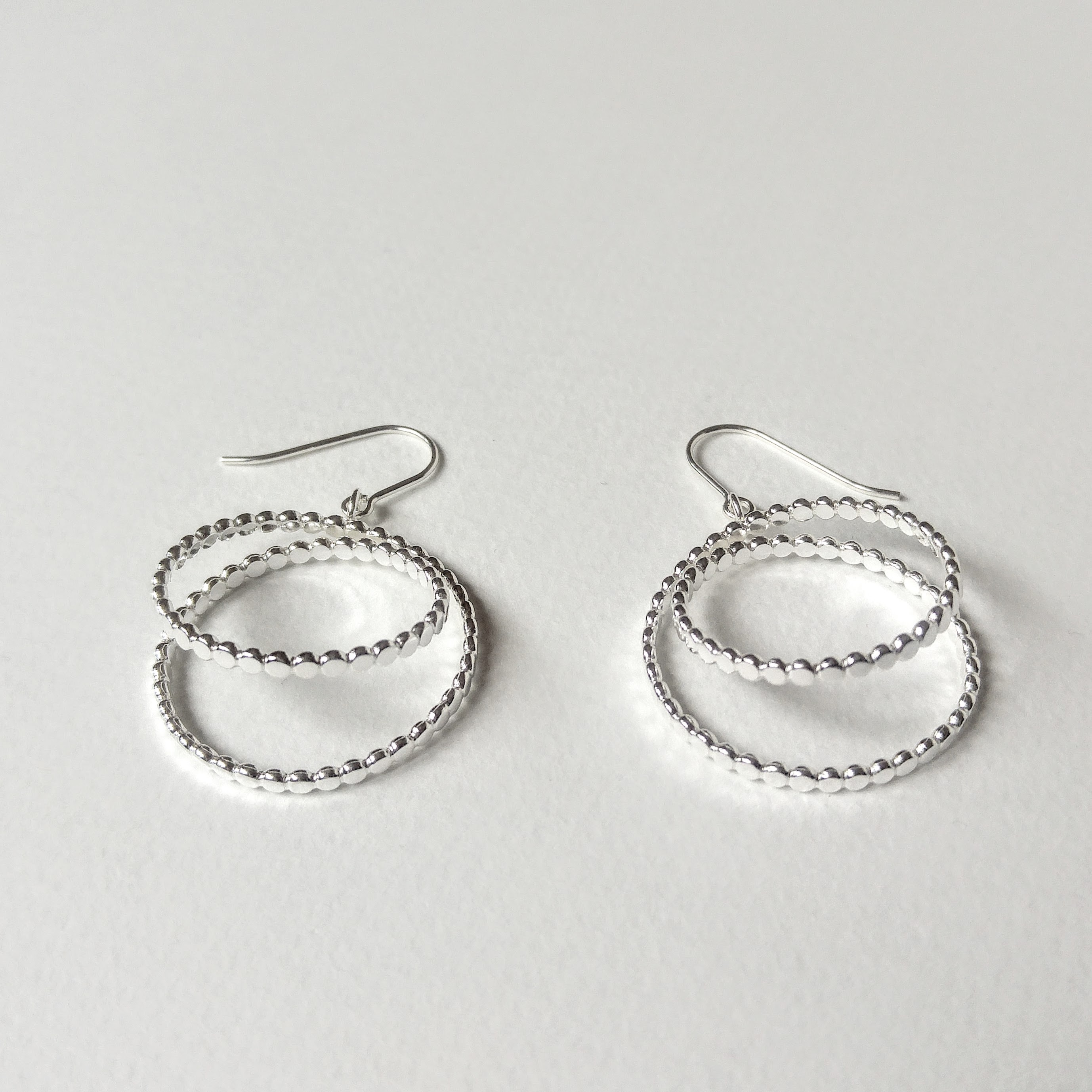 Nuance double hooped earrings