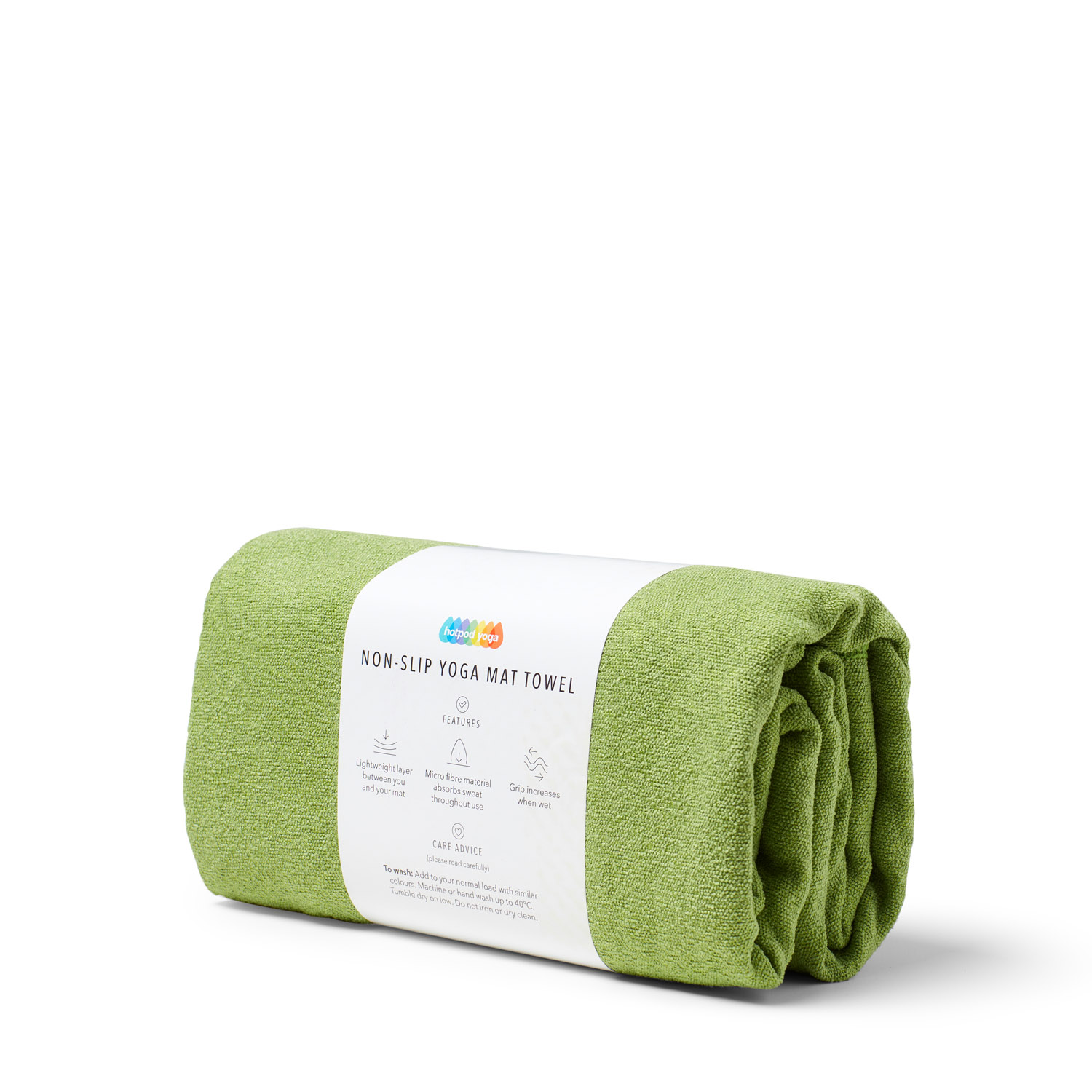 Non-Slip Yoga Towel - Green