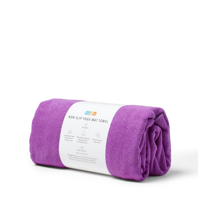 Non-Slip Yoga Towel - Purple