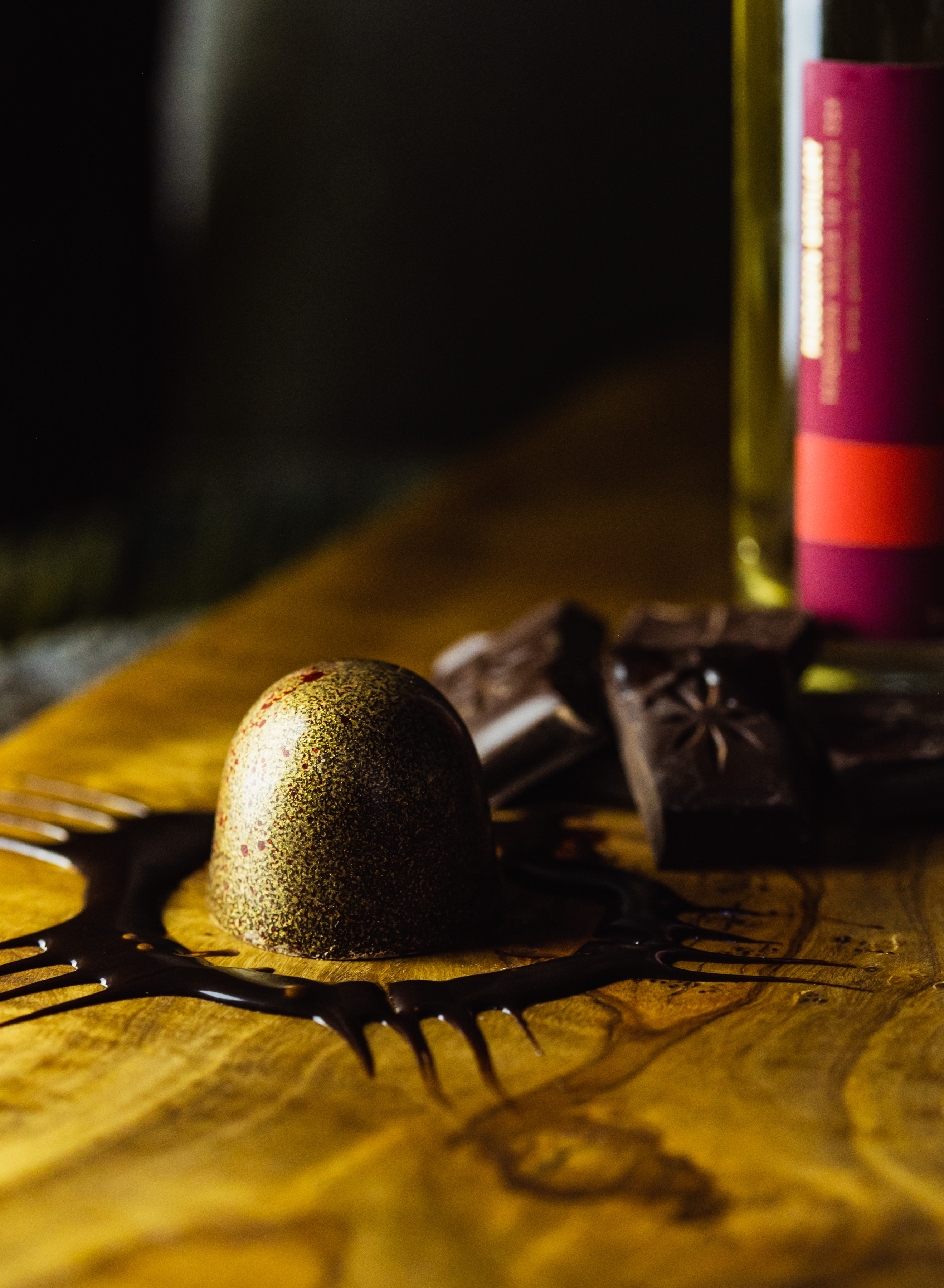 Dark Chocolate Penderyn Whisky Bonbon