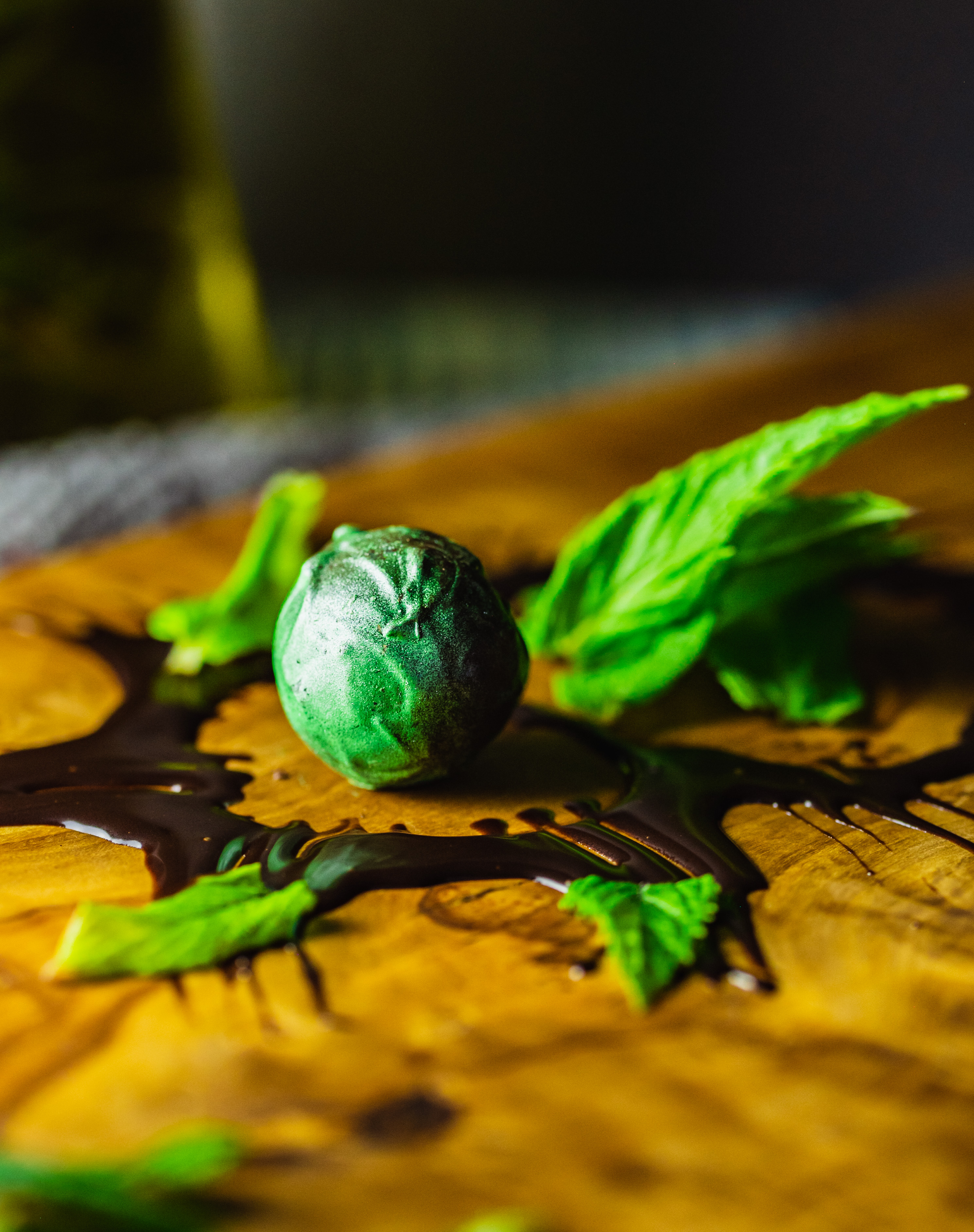 Dark Chocolate Fresh Garden Mint truffle