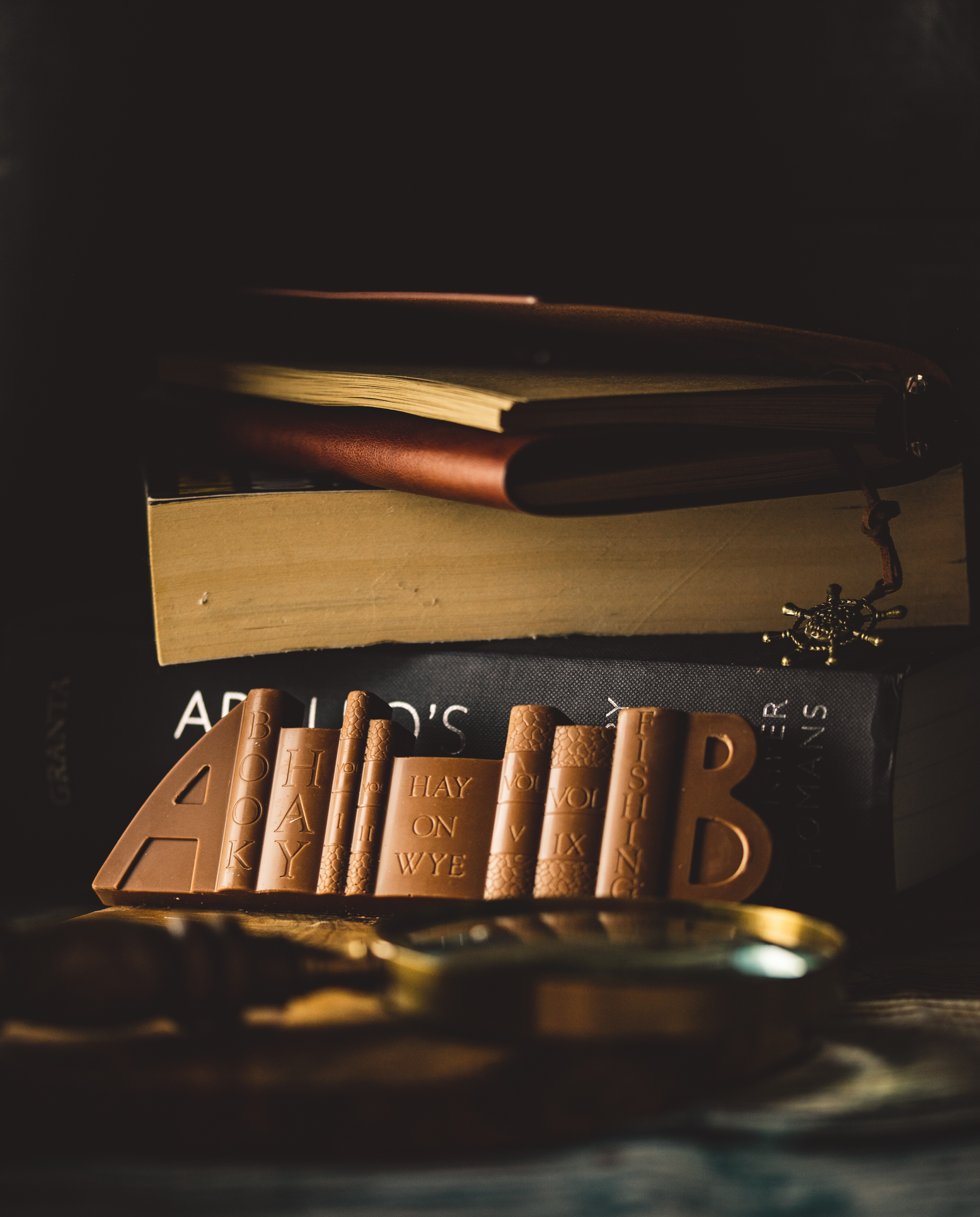 Solid Milk Chocolate BookENDS.