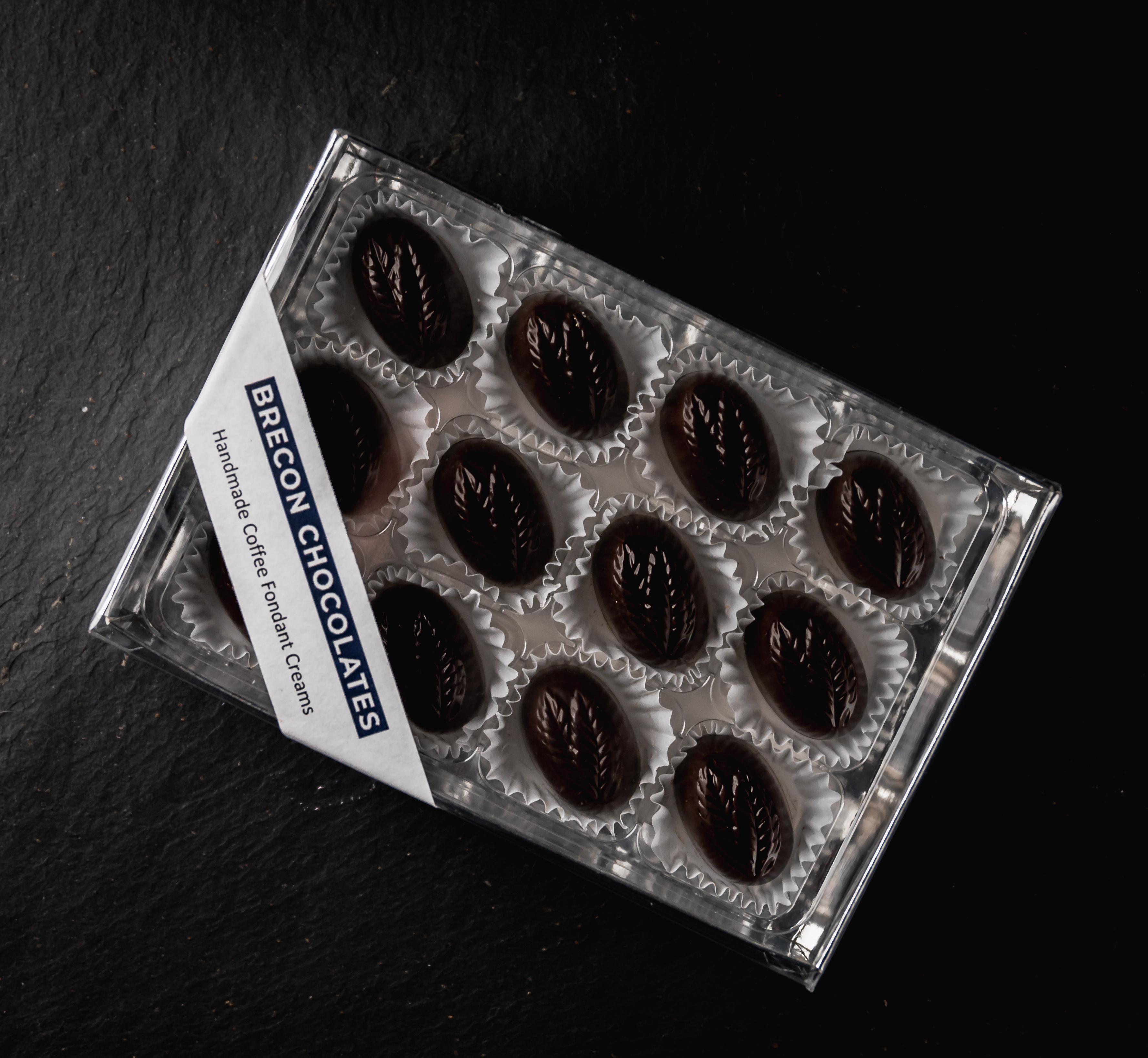 Coffee Fondant Creams. 12 Dark Chocolate.