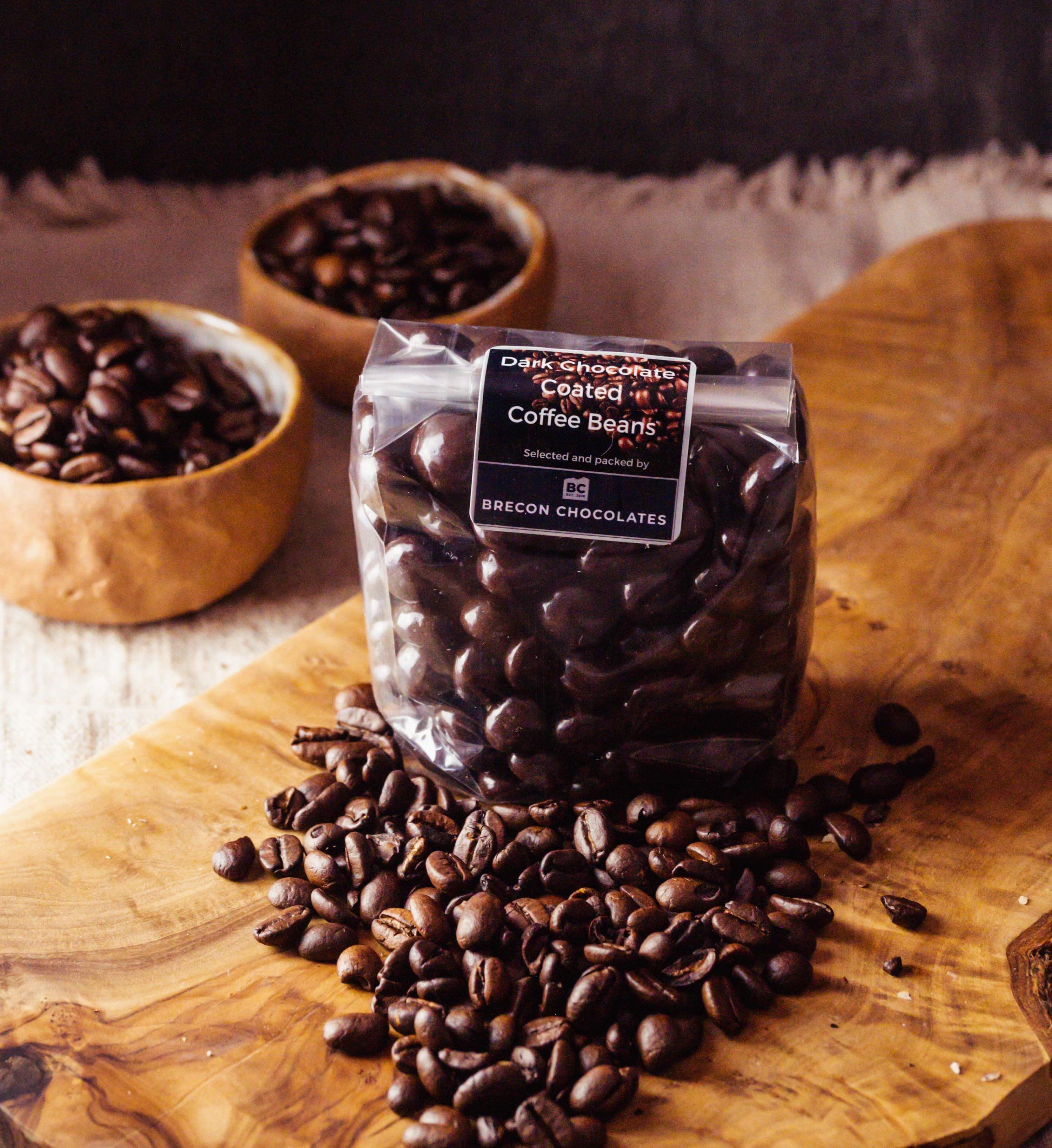 Dark Chocolate coated coffee beans