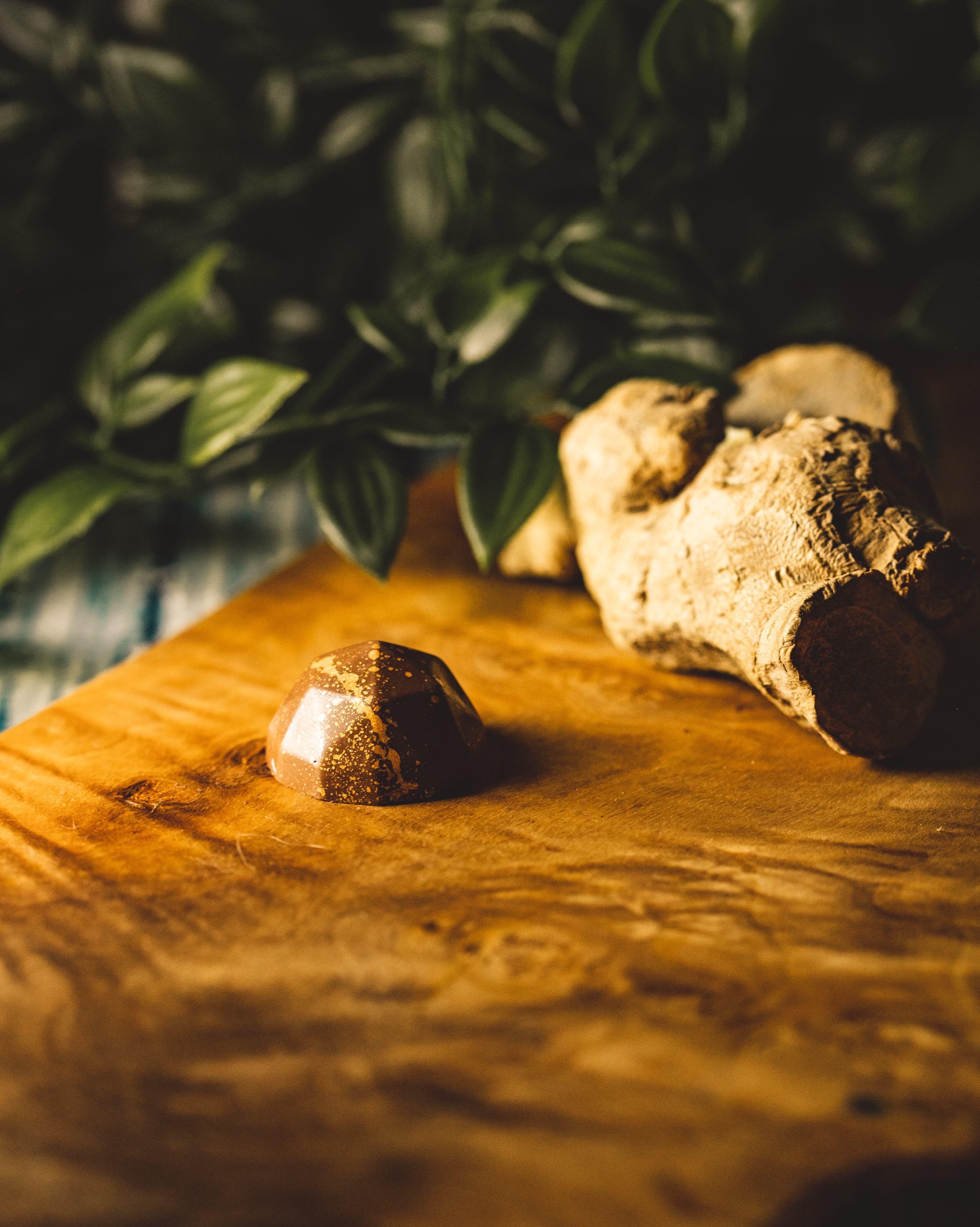 Milk Chocolate Stem Ginger truffle.