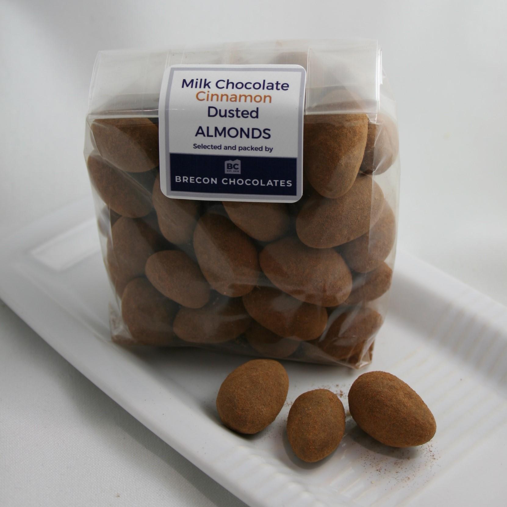 Cinnamon Dusted Milk Chocolate Almonds